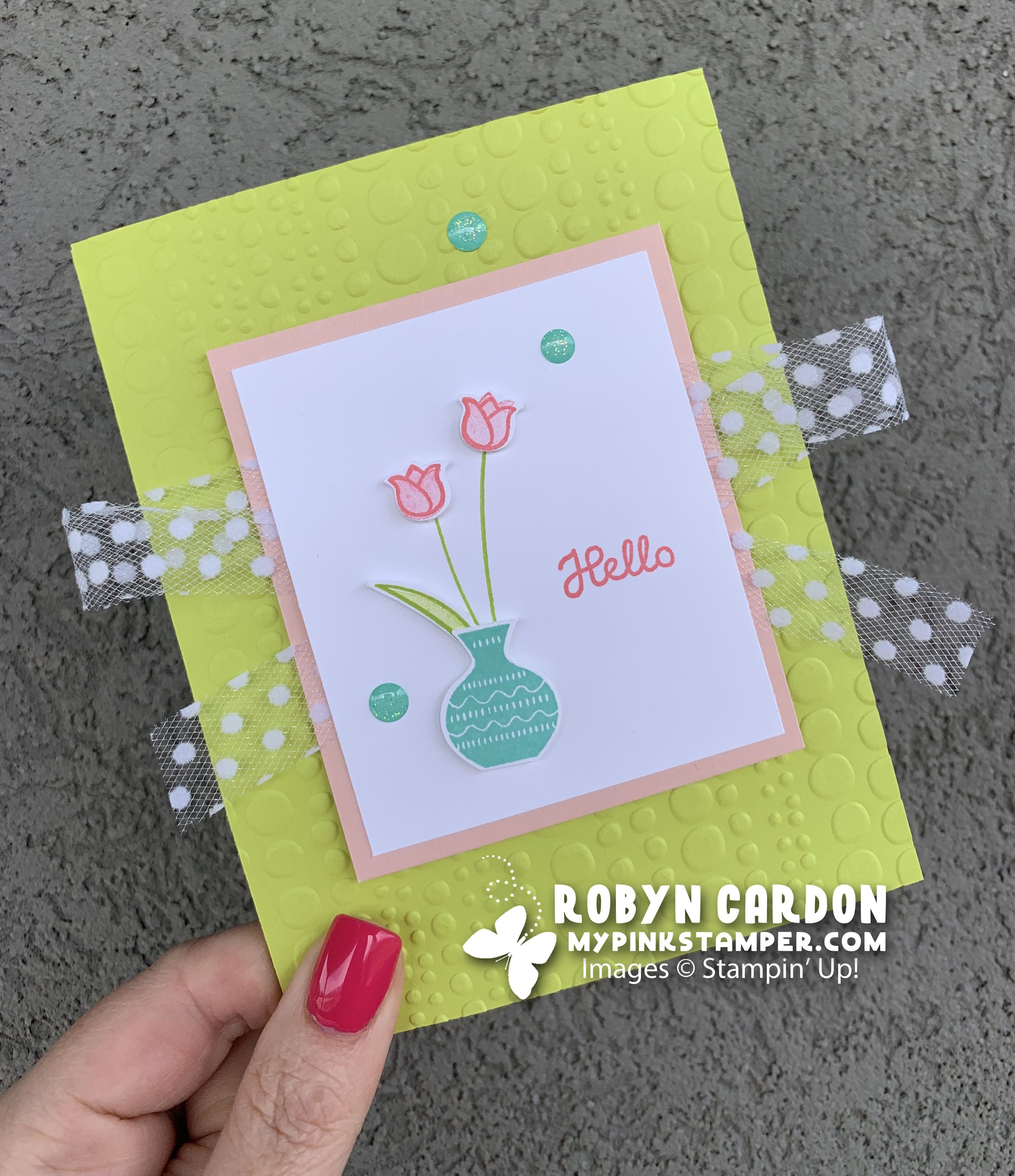 {VIDEO}Episode 688 – Stampin' Up! Varied Vases Copy the Catalog Card!