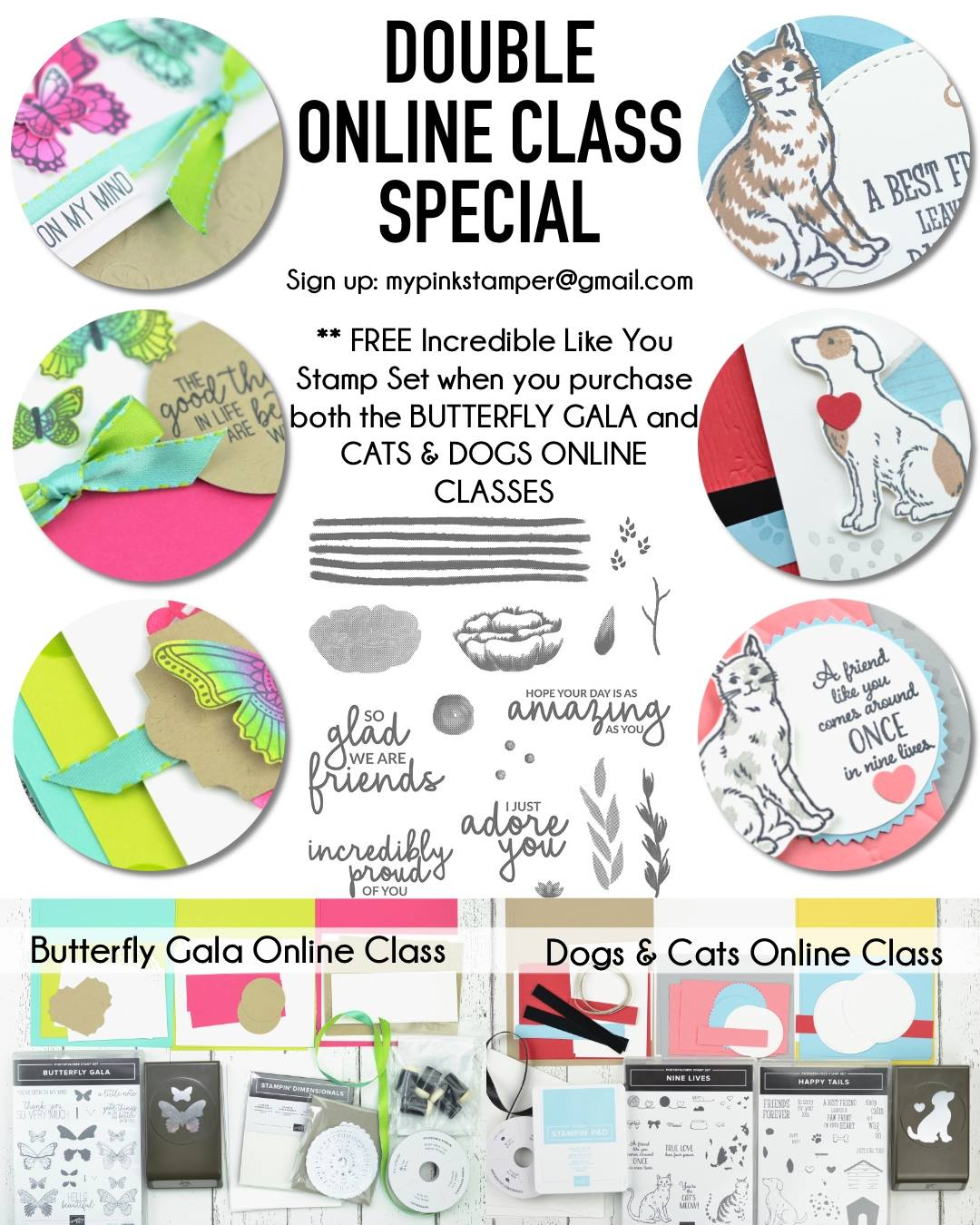Stampin' Up! Butterfly Gala Online Class Preorder & More!