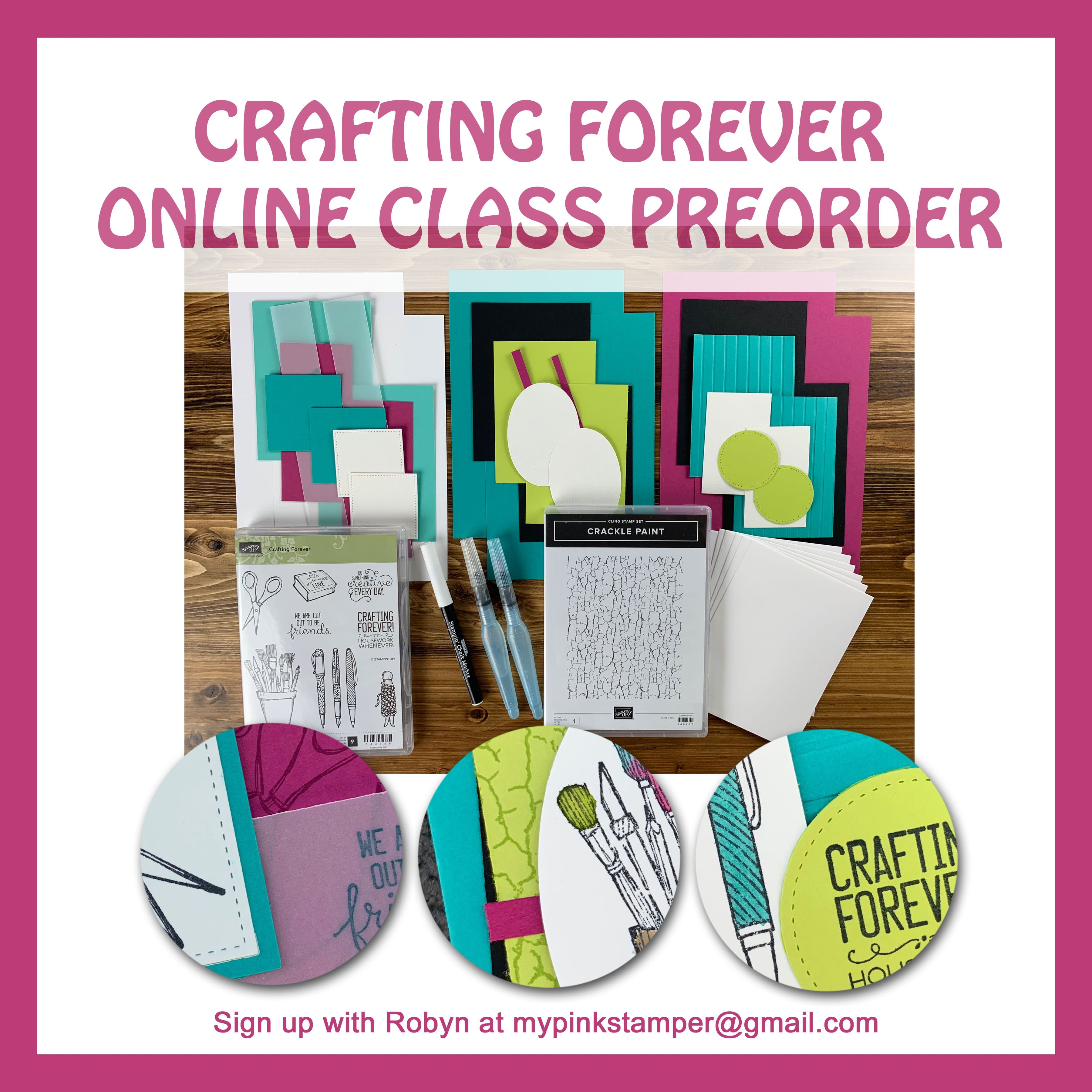{CLASS PREORDER}Crafting Forever Online Class Preorder Open!!