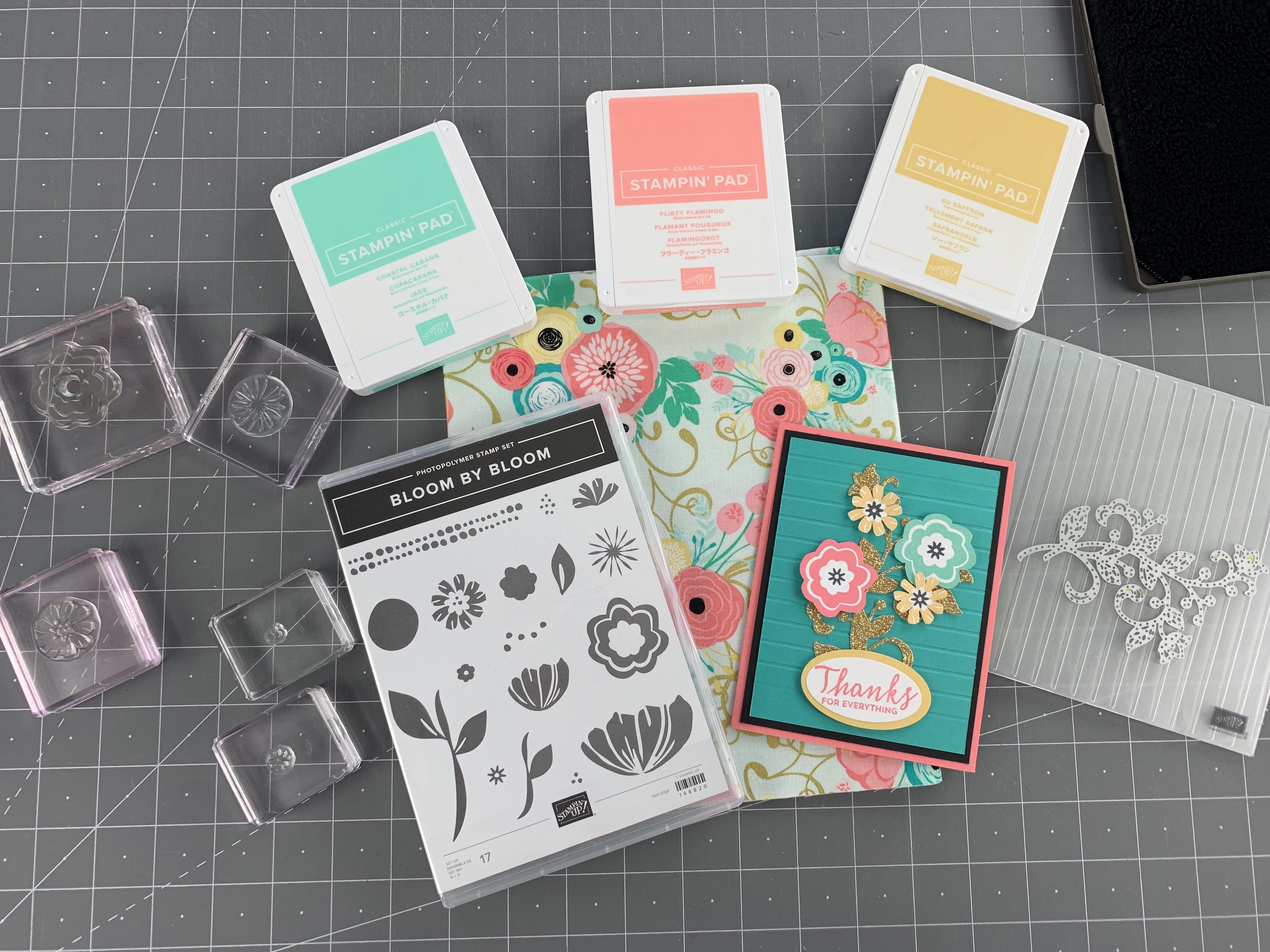 {VIDEO}Episode 690 – Stampin' Up! Bloom by Bloom / Fabric Inspiration & Week 1 of Promotion