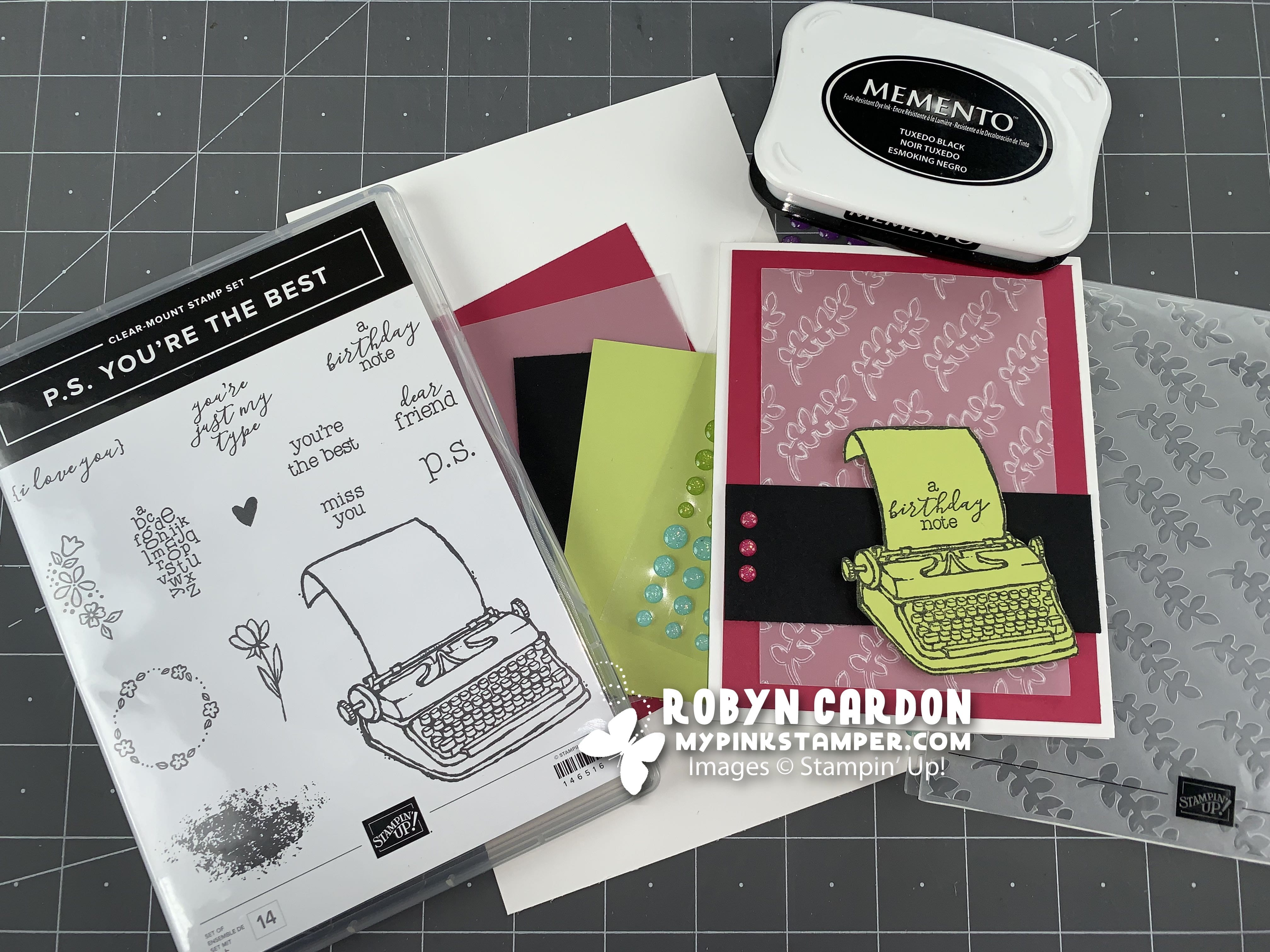 {VIDEO}Episode 694 – Stampin' Up! P.S. You're the Best Simple Card Tutorial