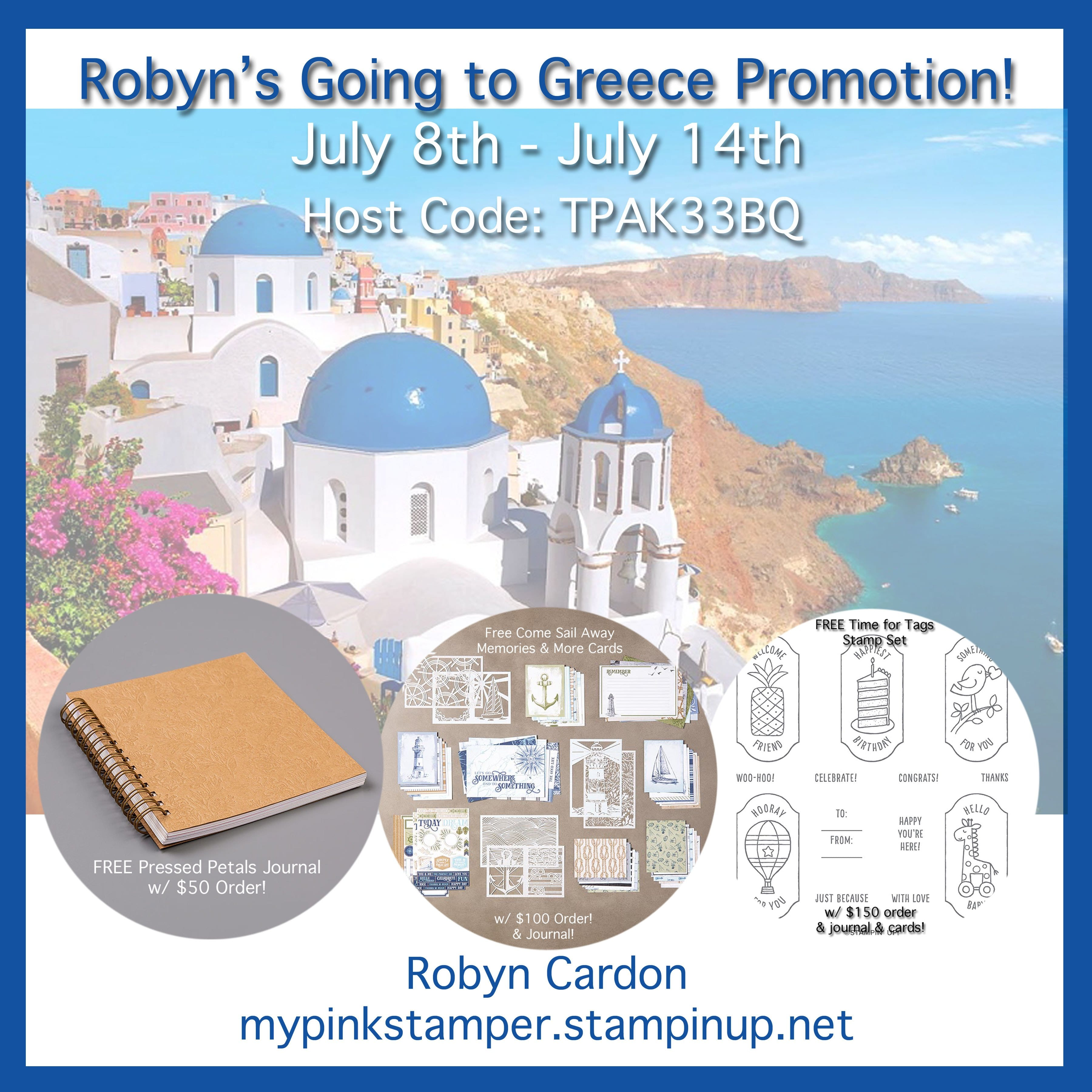 Day 1 – Going to Greece Promotion & Giveaway!