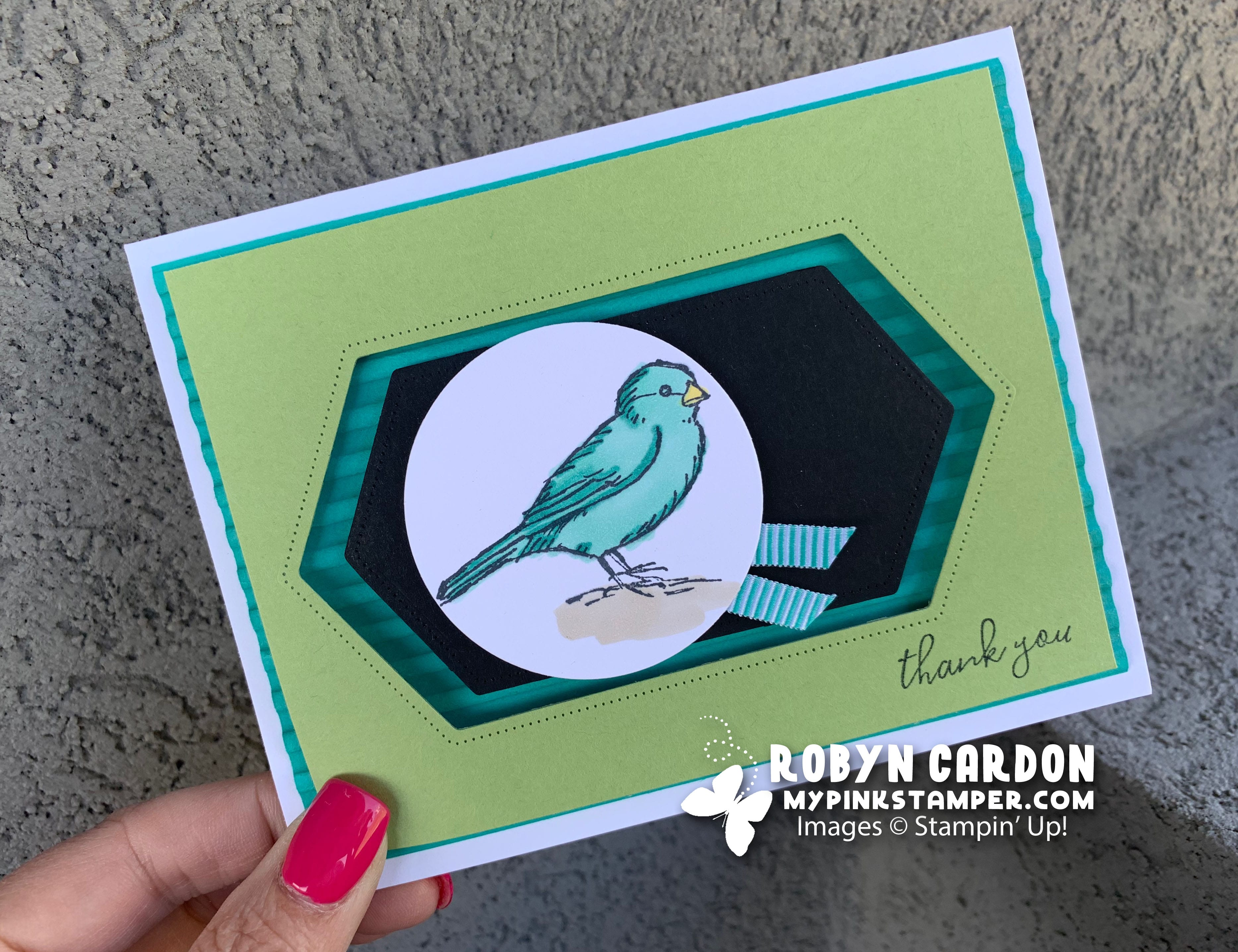 {VIDEO}Stampin' Up! Free as a Bird Alcohol Markers Card – Episode 704 & Winner!