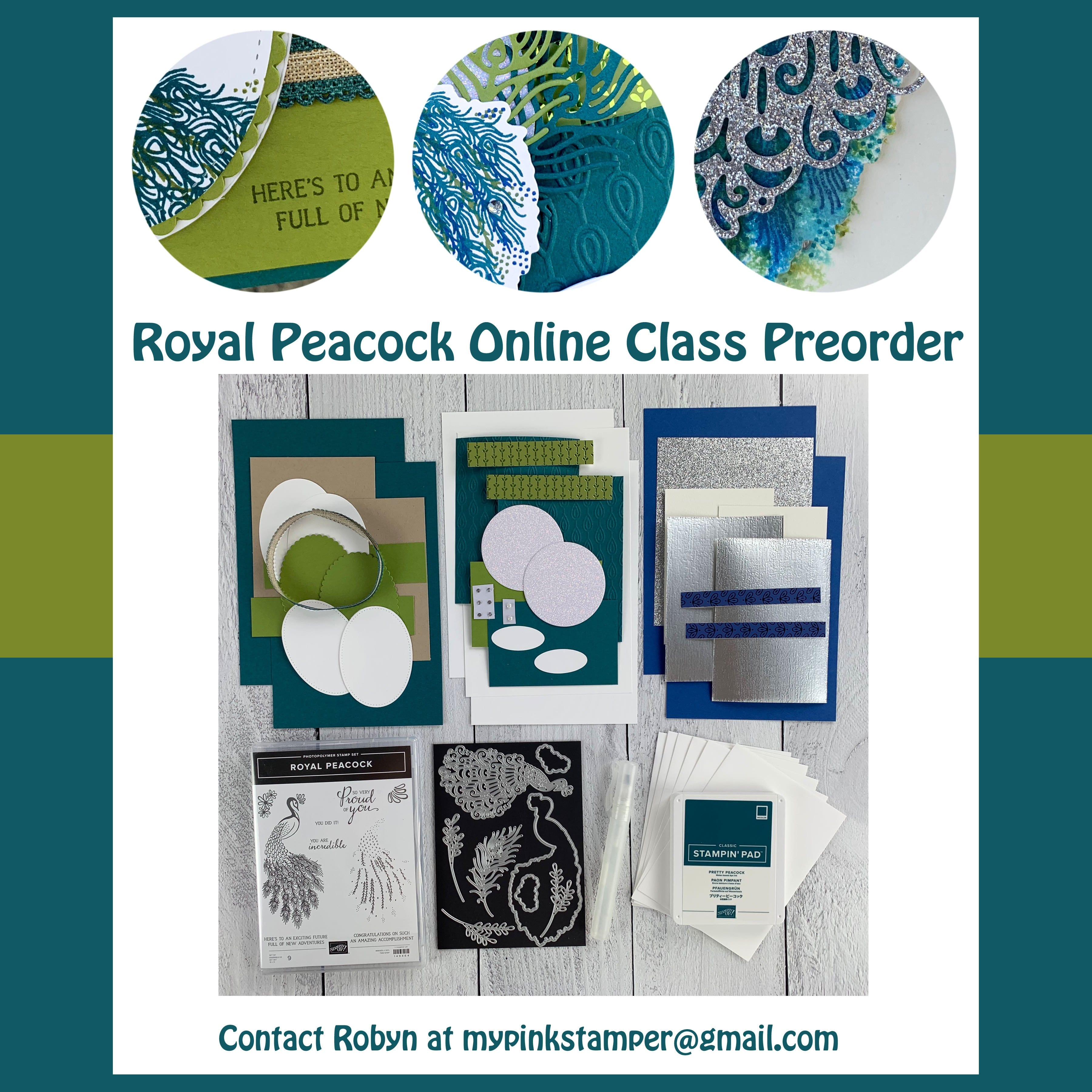 {CLASS}Royal Peacock Online Class Preorder & Weekly Giveaway!