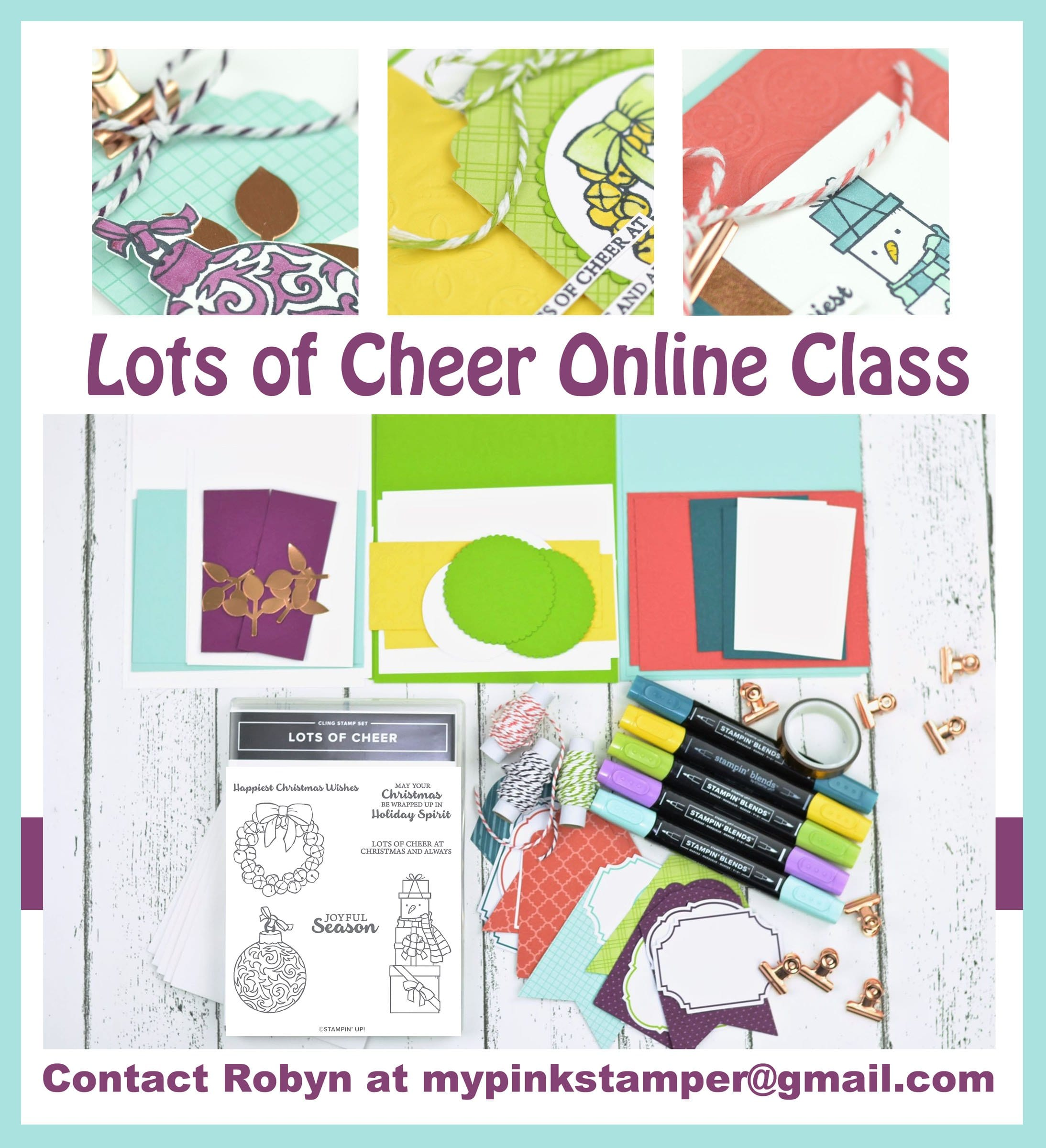 {ONLINE CLASS}Stampin' Up! Lots of Cheer Online Class Preorder