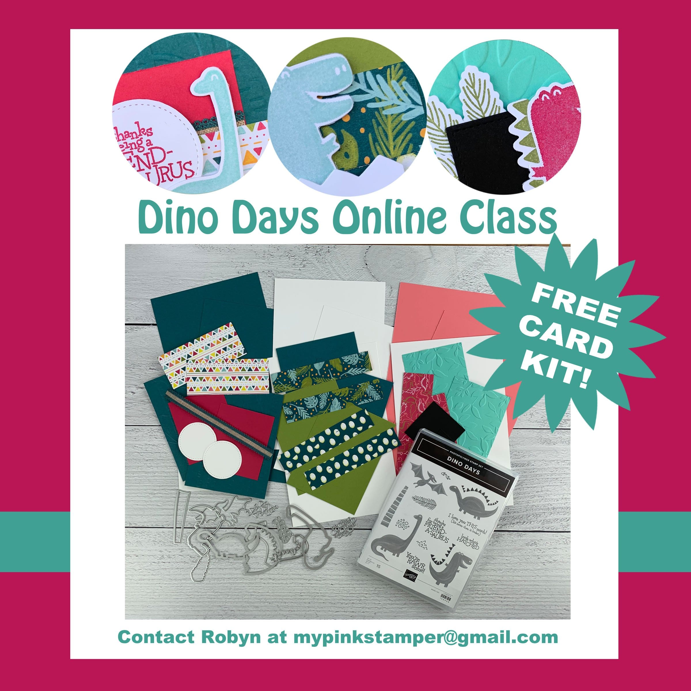 {CLASS}Stampin' Up! Dino Days Online Class Preorder