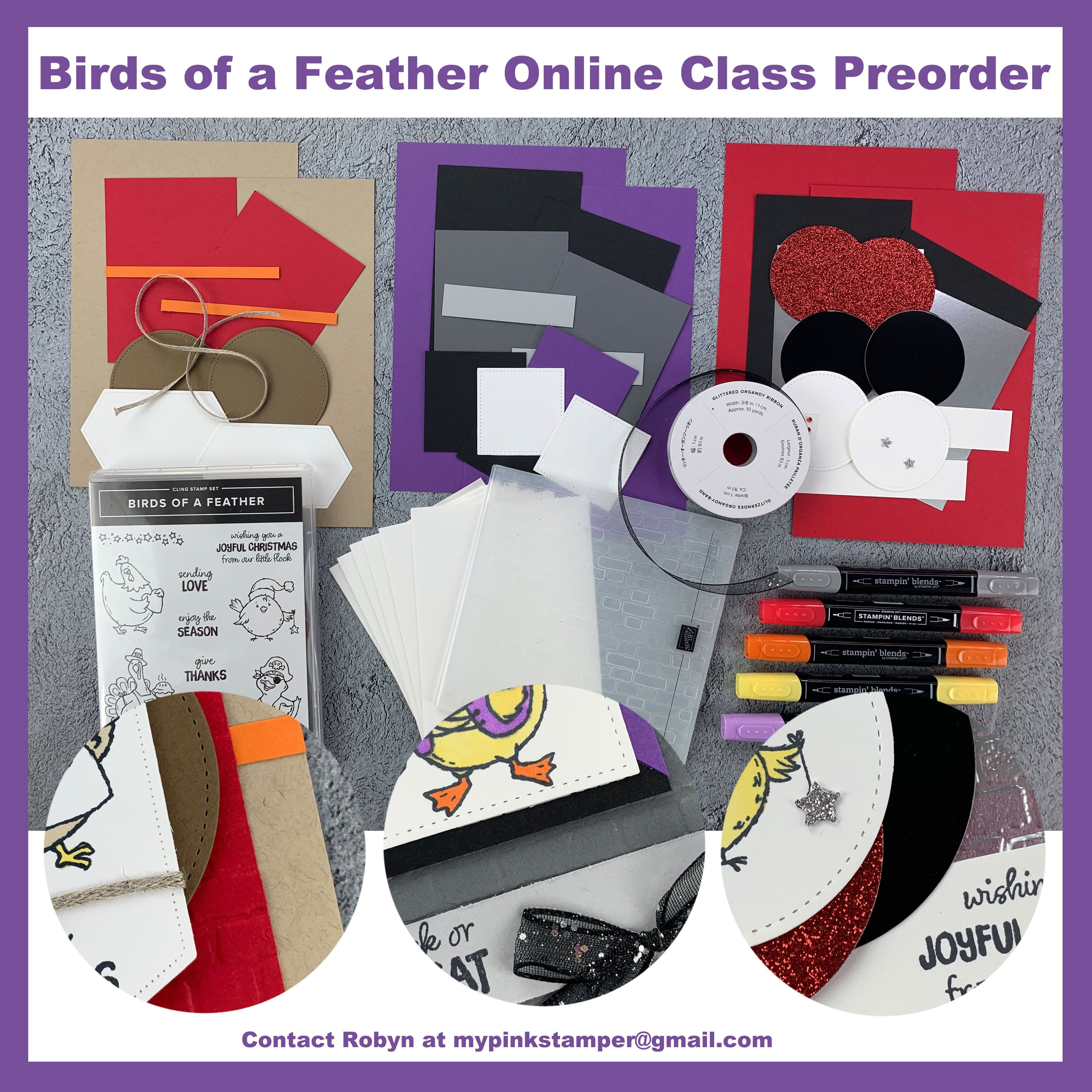 {CLASS BY MAIL}Birds of a Feather Online Class Preorder now OPEN!!