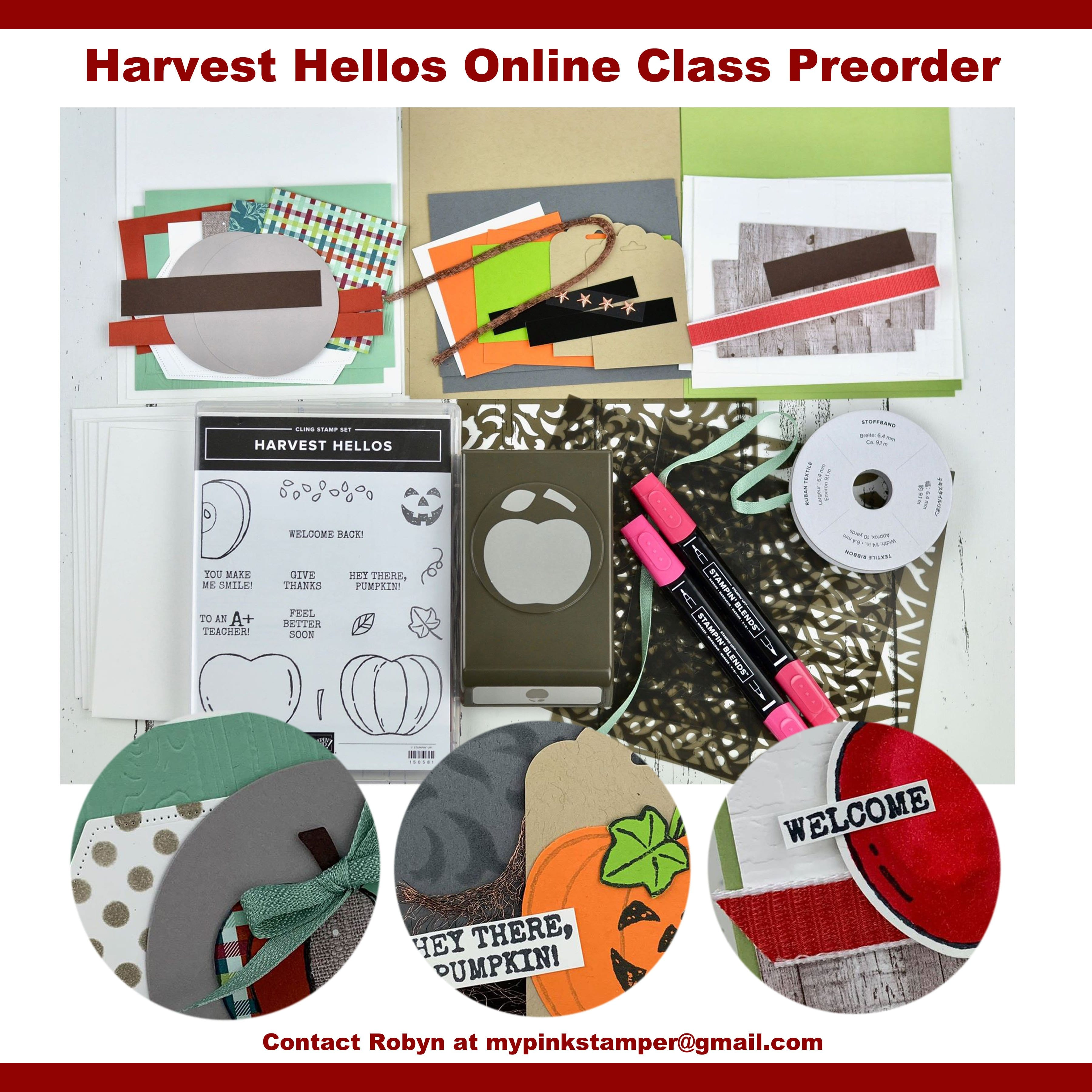 Stampin' Up! Harvest Hellos Online Class by Mail Preorder