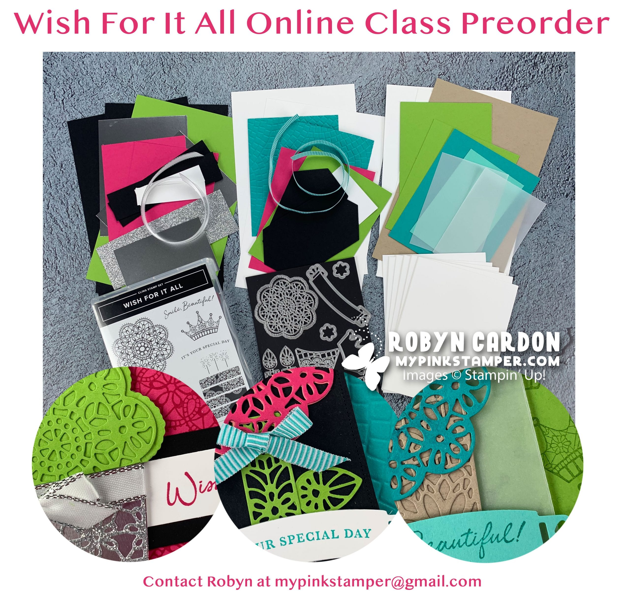{NEW}Stampin' Up! Wish for it All Online Class Preorder!