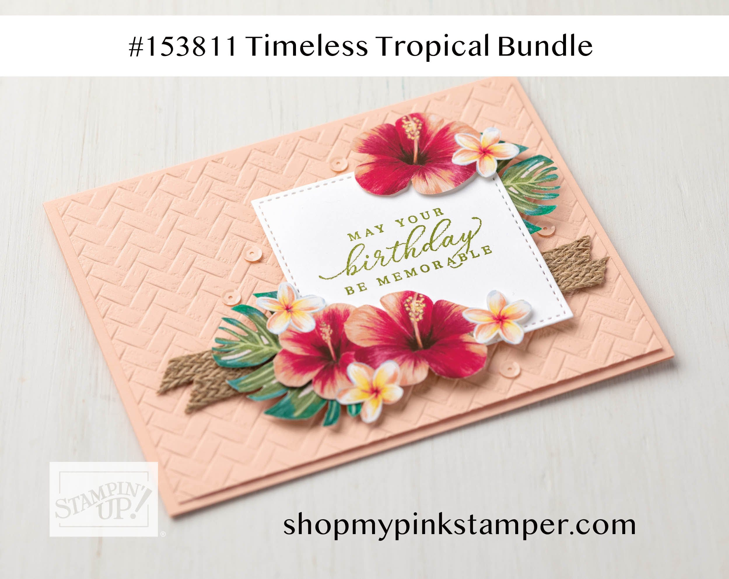 Stampin' Up! Timeless Tropical Spotlight & My Pink Candy Giveaway!