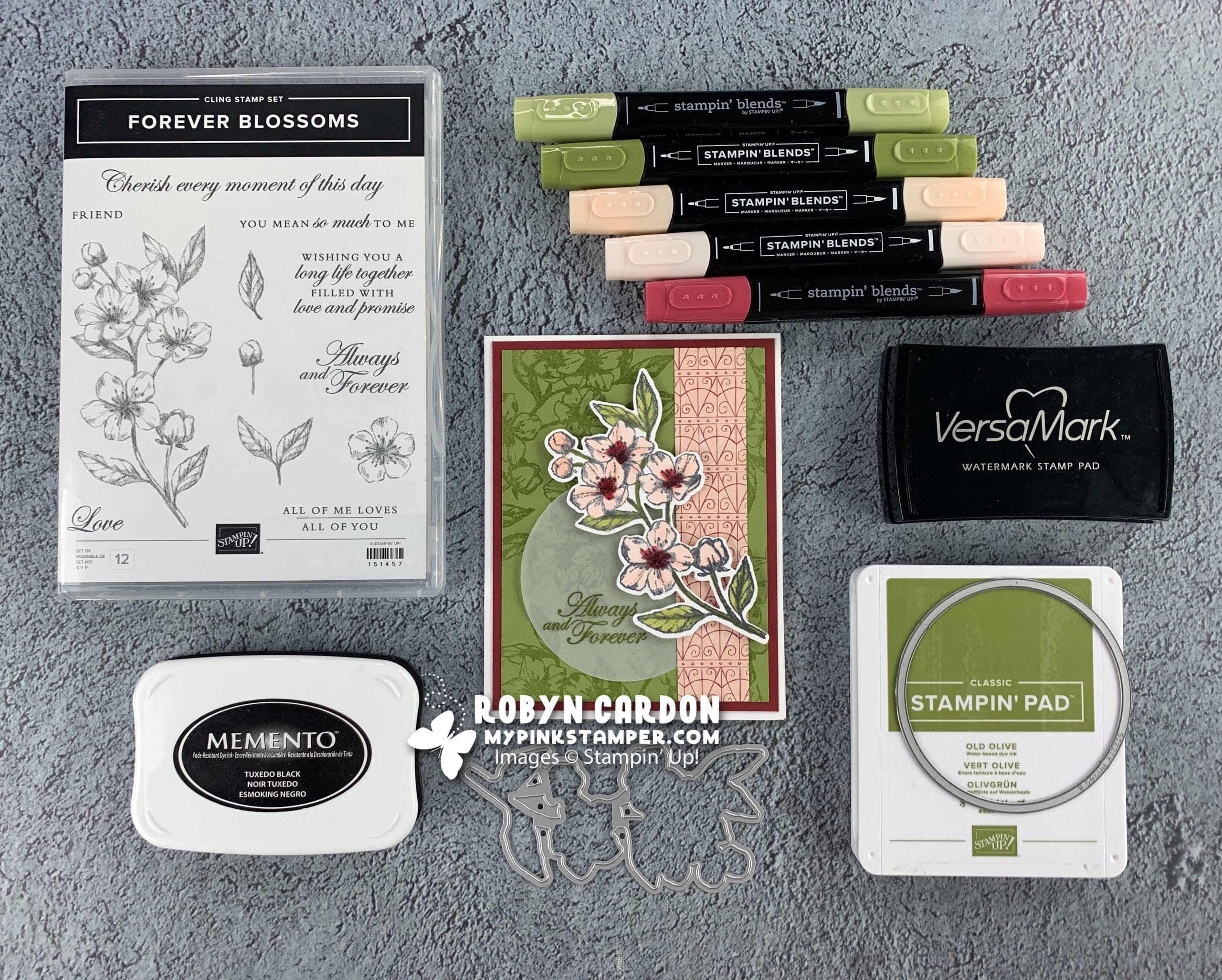 {VIDEO}Episode 755 – Stampin' Techniques with Forever Blossoms – Heat Embossing