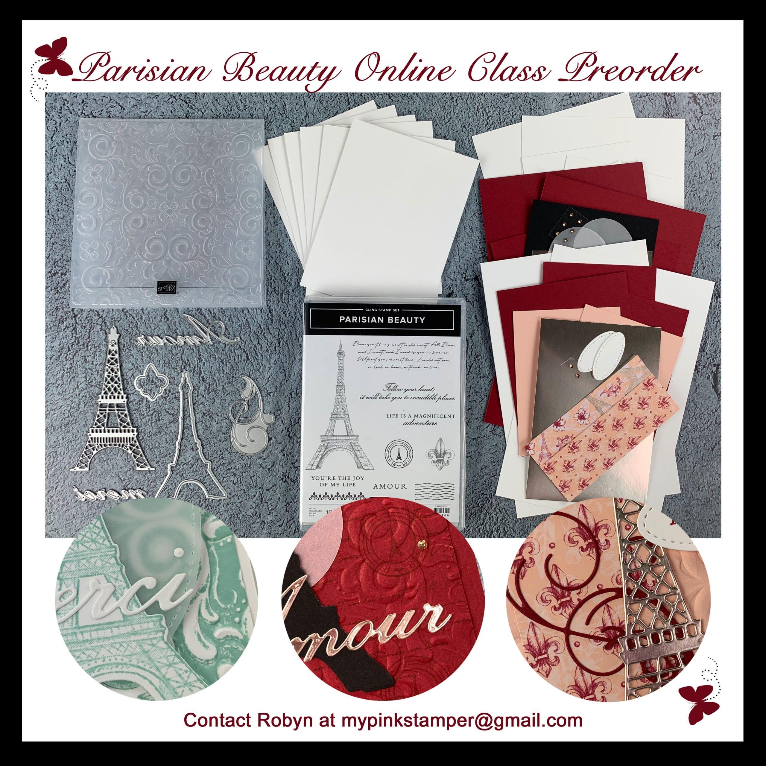 Stampin' Up! Parisian Beauty Online Class Preorder