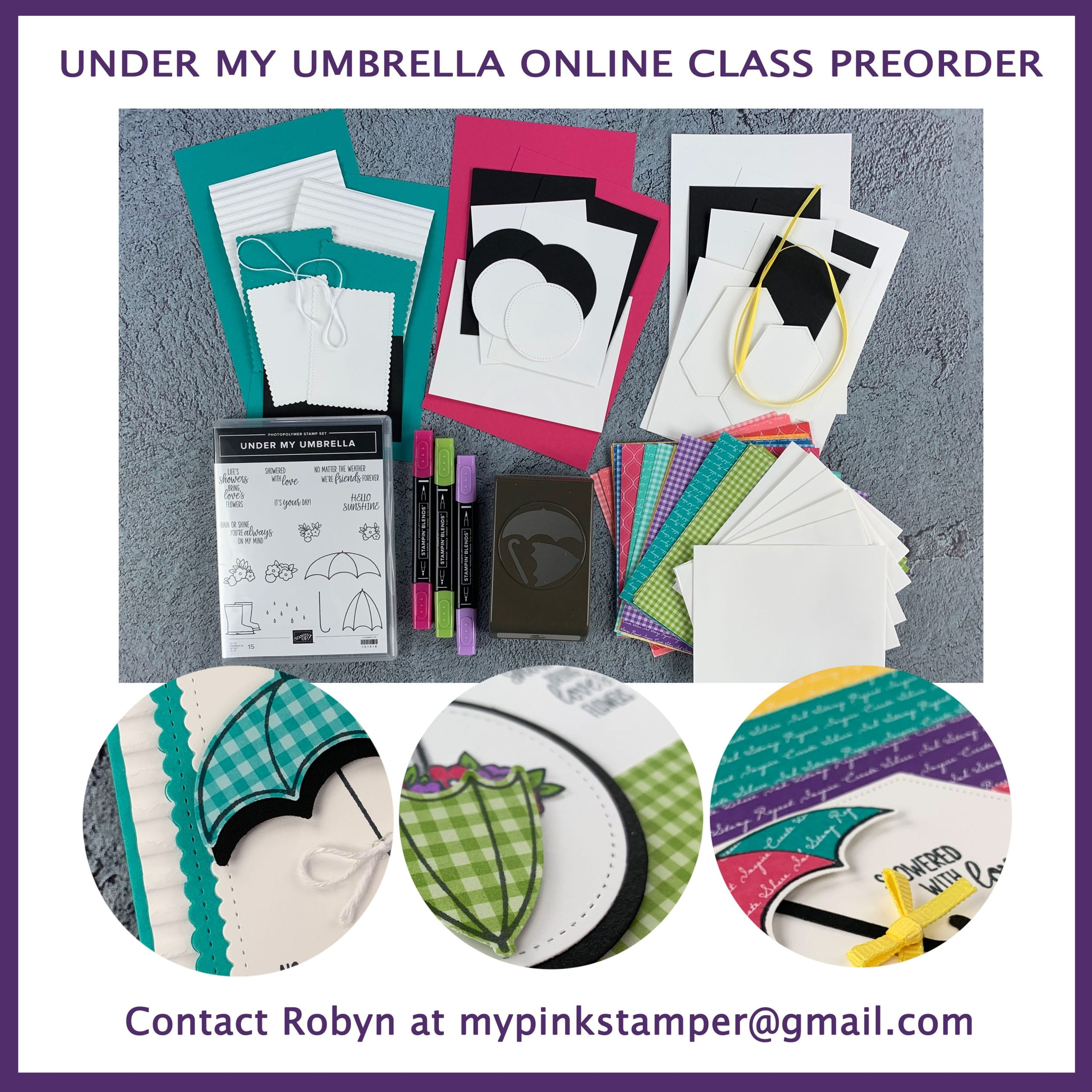 Under My Umbrella Online Class Preorder (Class by Mail)