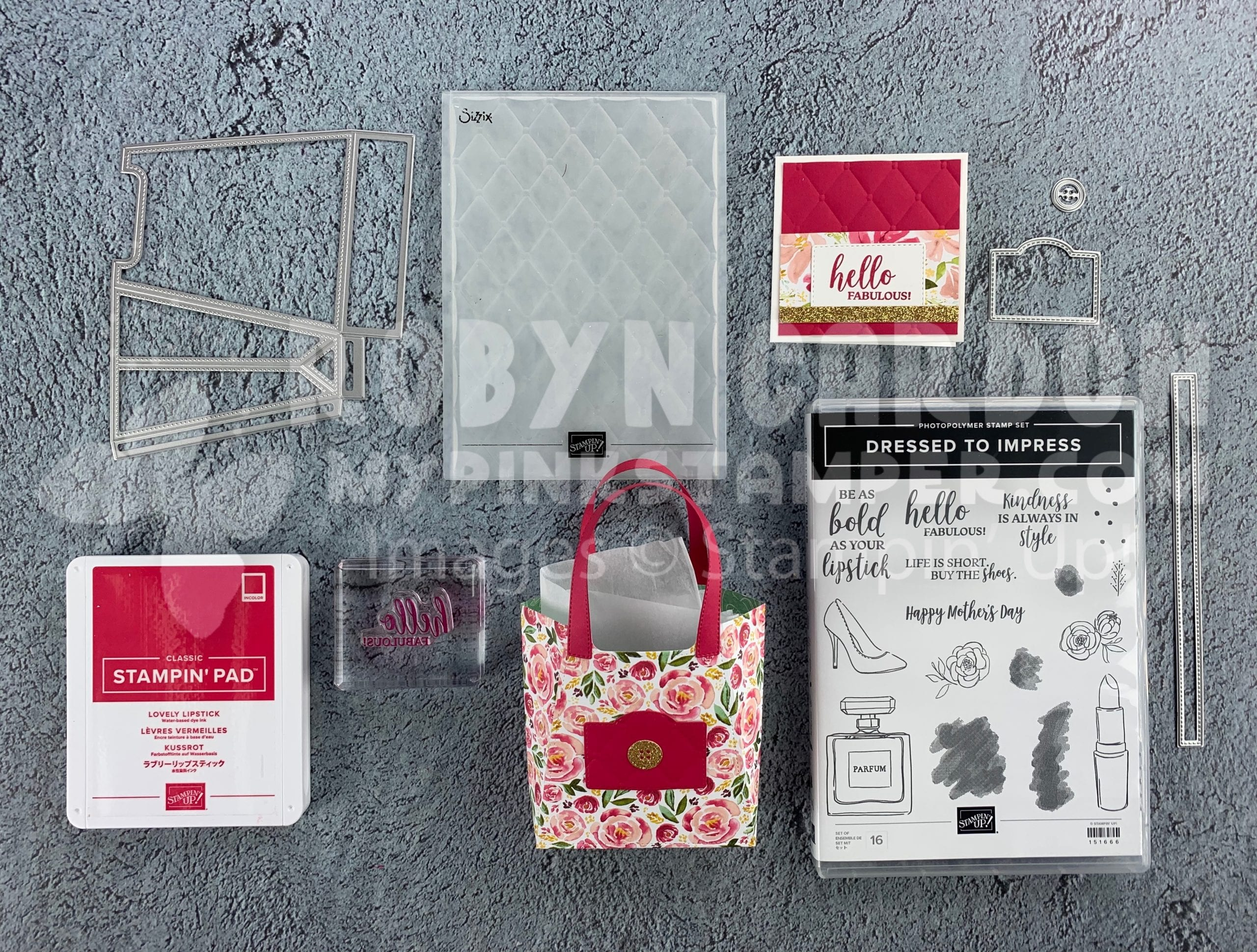 {VIDEO}Episode 758 – Stampin' Up! Dressed to Impress – Make a Purse Box!