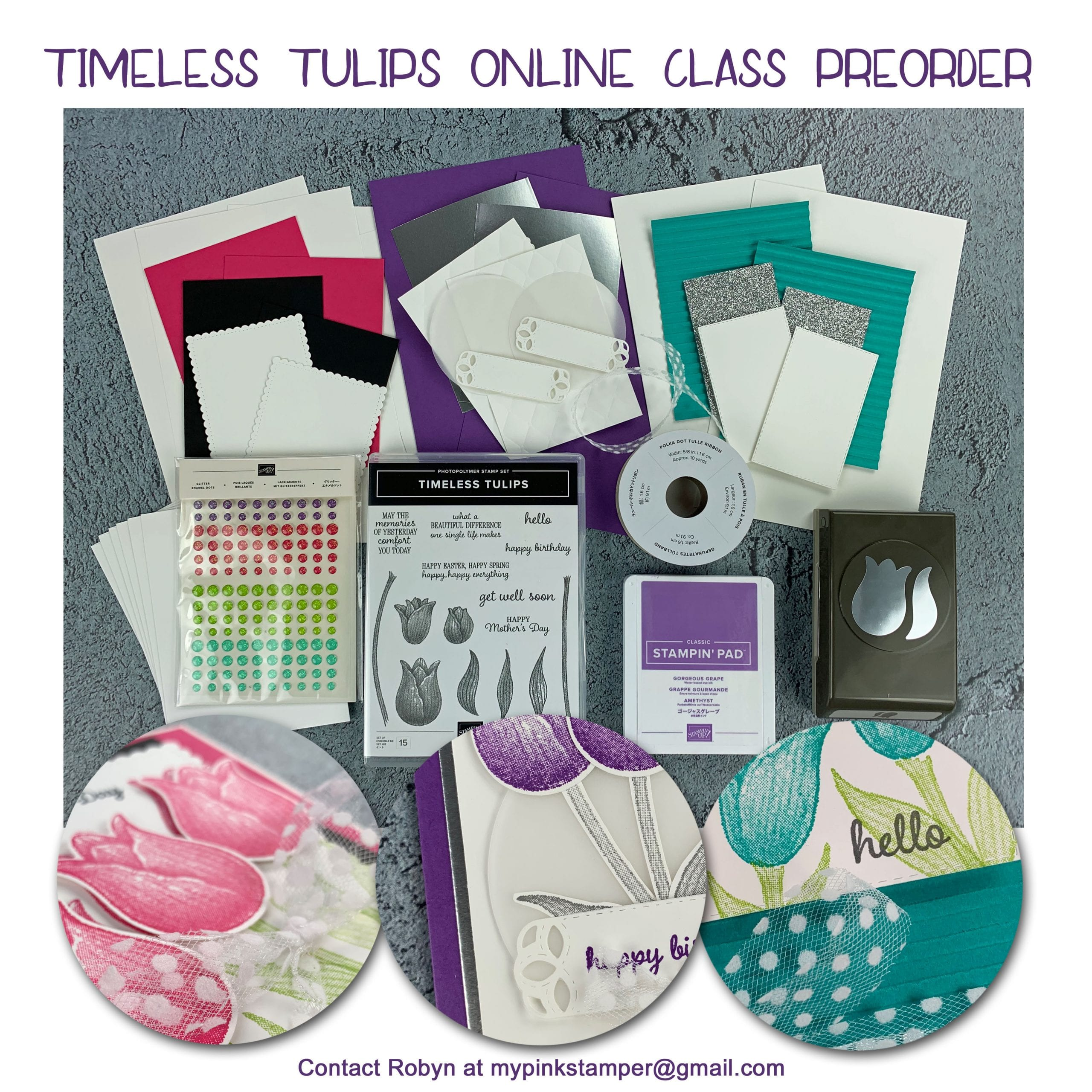 {NEW}Stampin' Up! Timeless Tulips Online Class Preorder