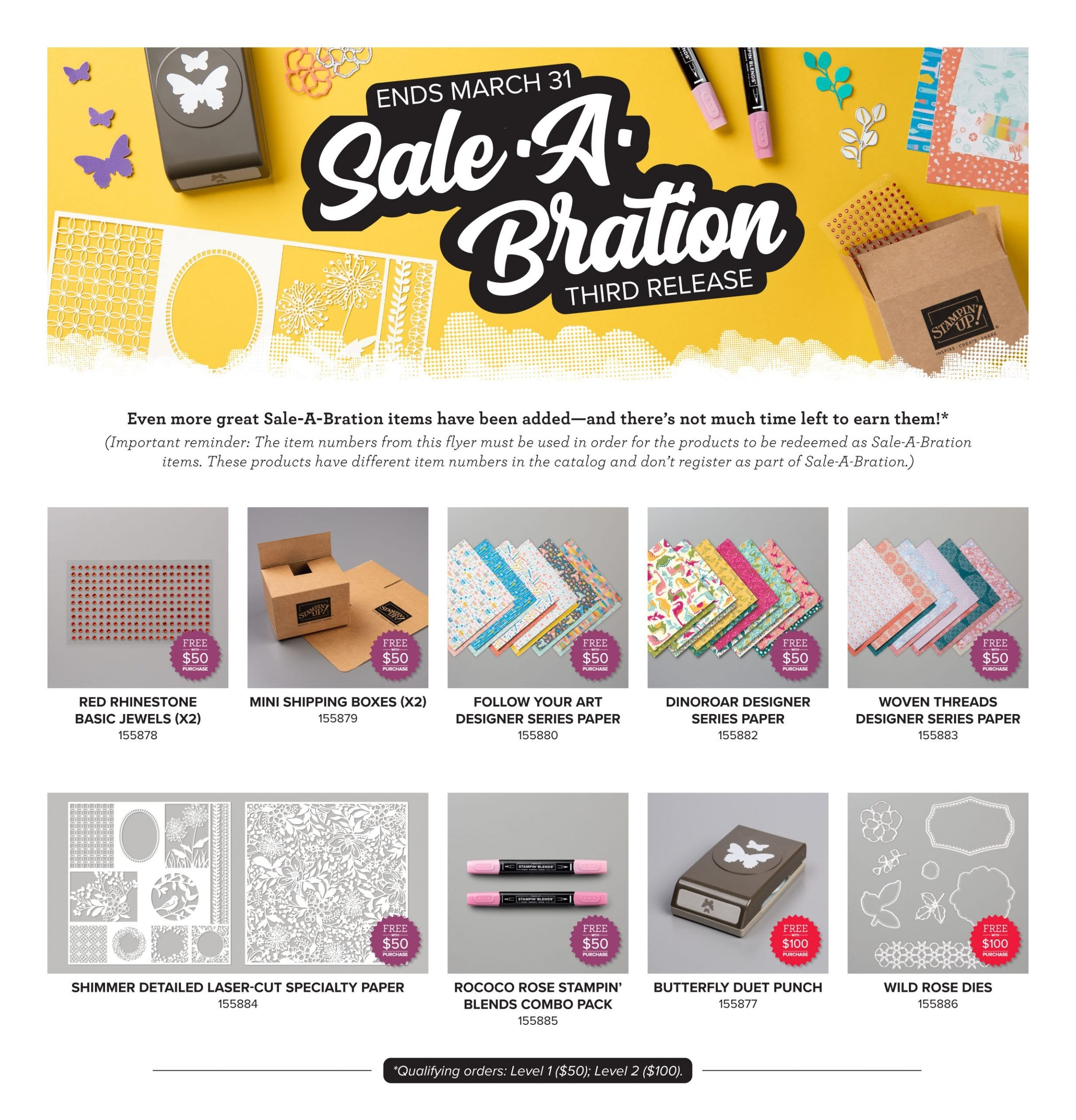Sale-a-bration 3rd Release Now Posted with MORE Free Goodies to Earn!!