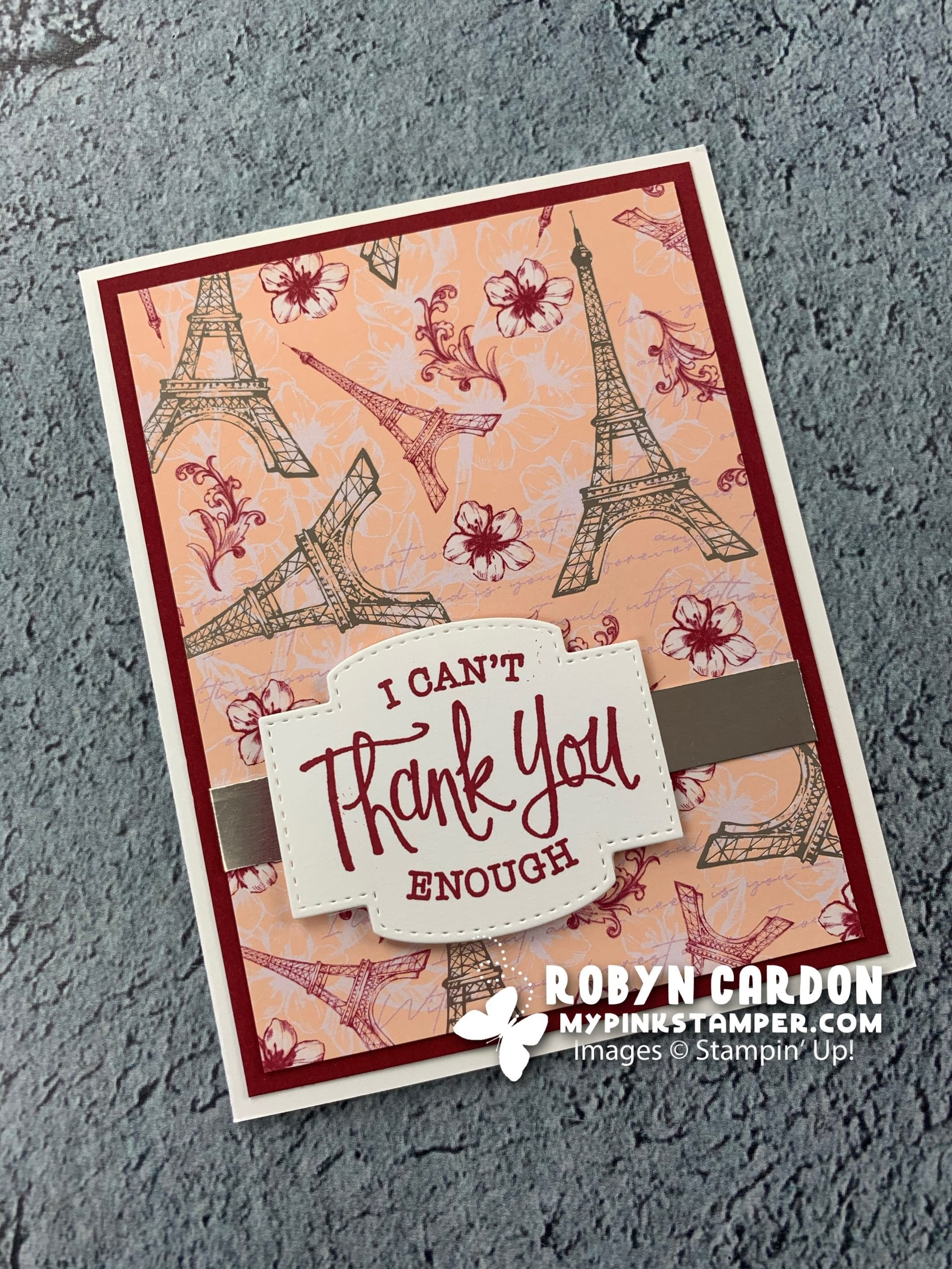 Stampin' Up! So Sentimental Thank You Card & My Pink Candy Giveaway & Last Week's Winner