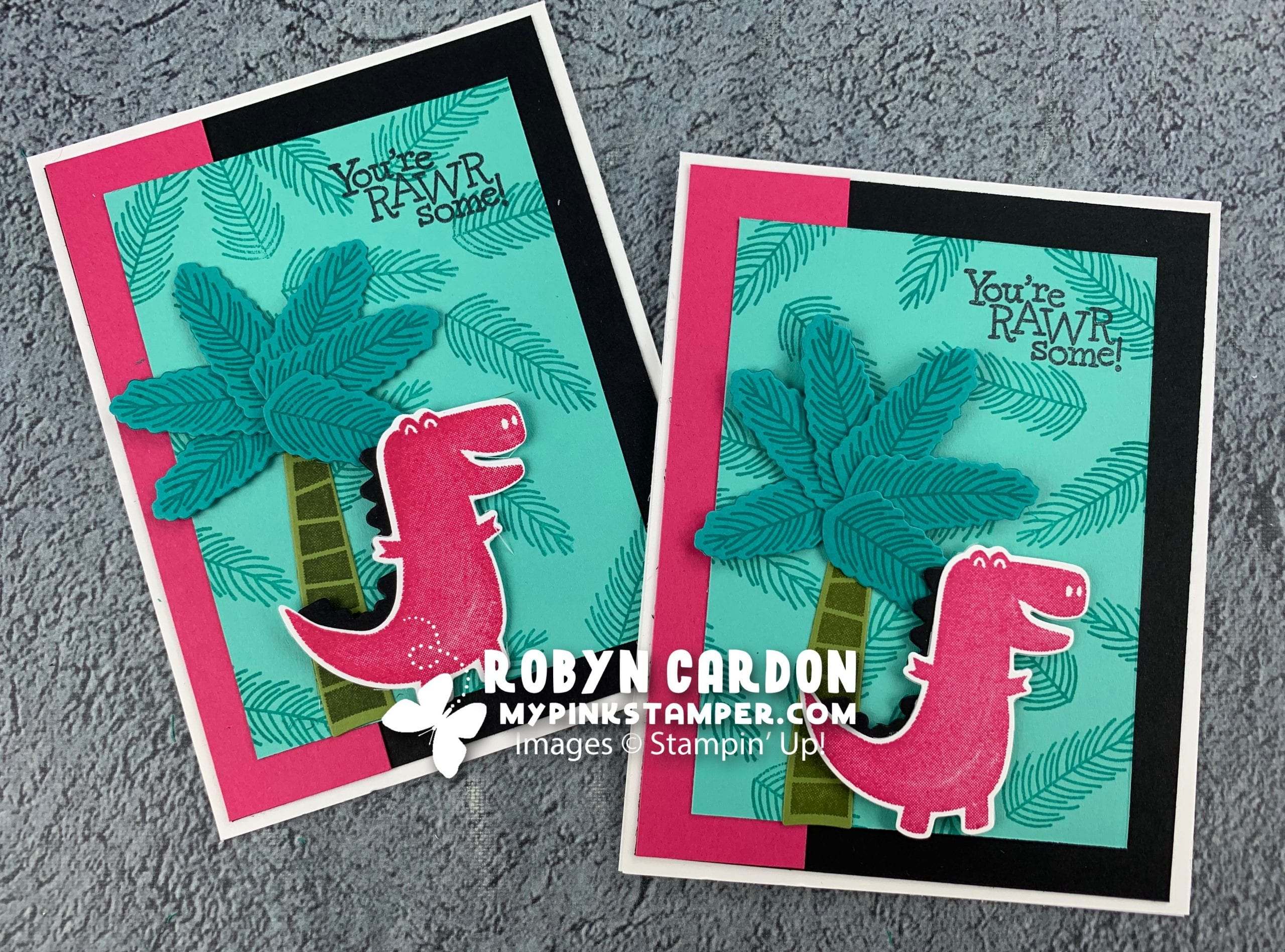 {VIDEO}Stampin' Up! Dino Days Simple Stamping Card & Day 8 – A Card a Day in May & Week 2 Promotion!