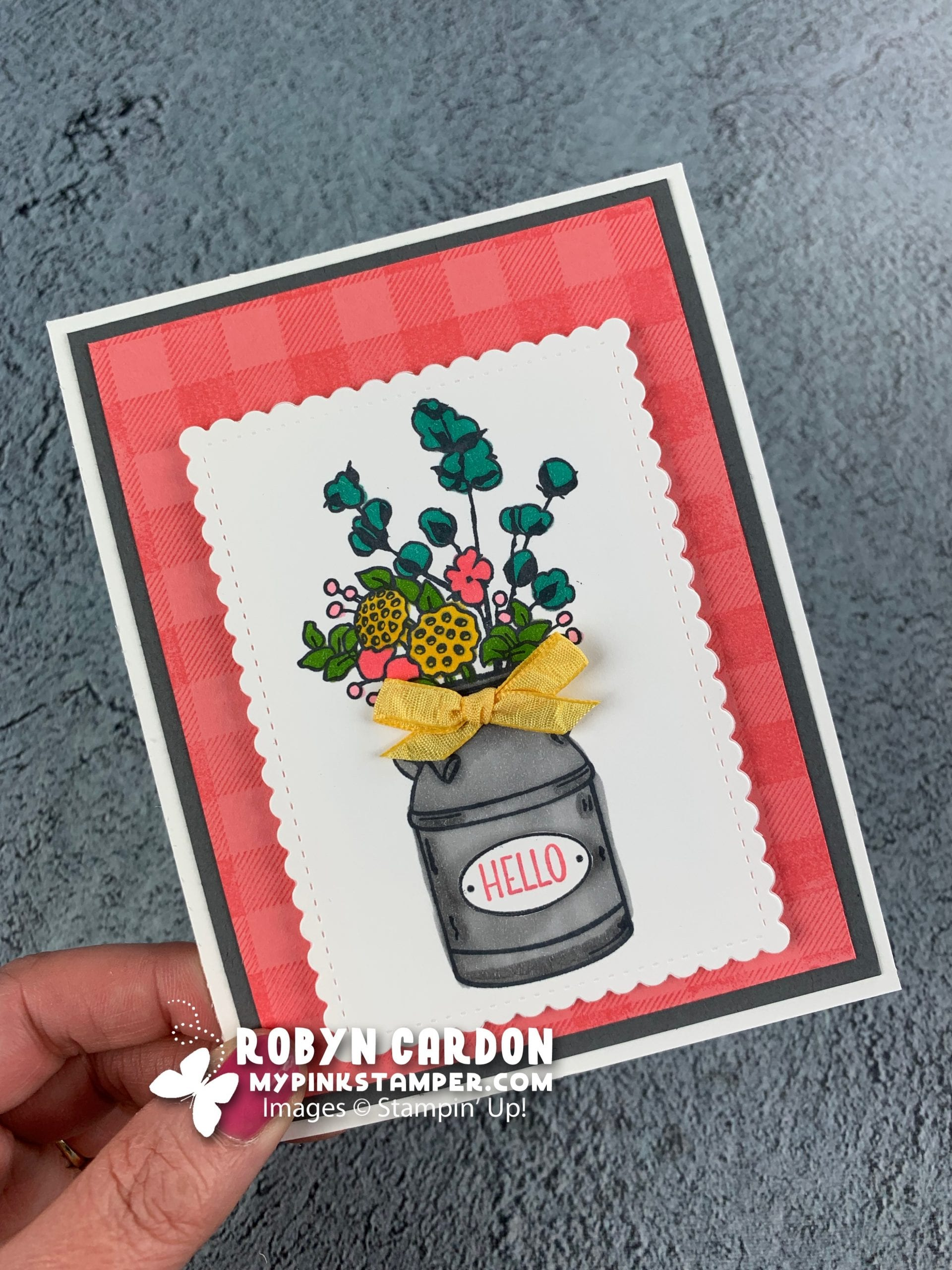 {VIDEO}Day 11 – A Card a Day in May – Stampin' Up! Country Home Tutorial & Week 2 Promotion!