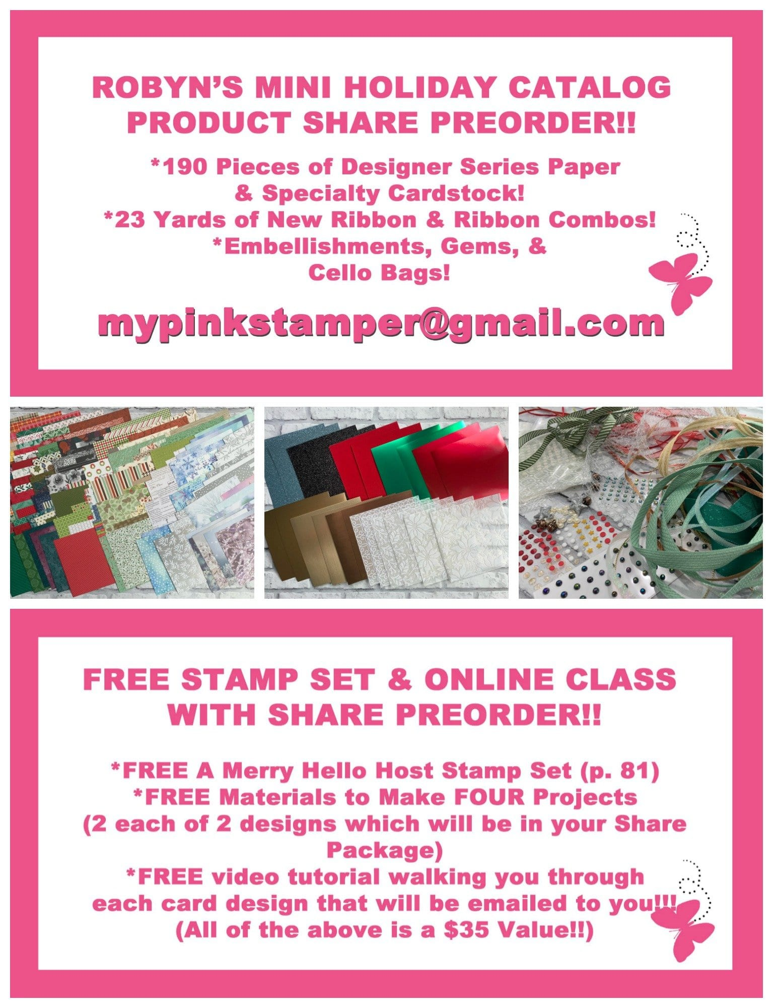 Robyn's Stampin' Up! Holiday Catalog Share Preorder Now Open!