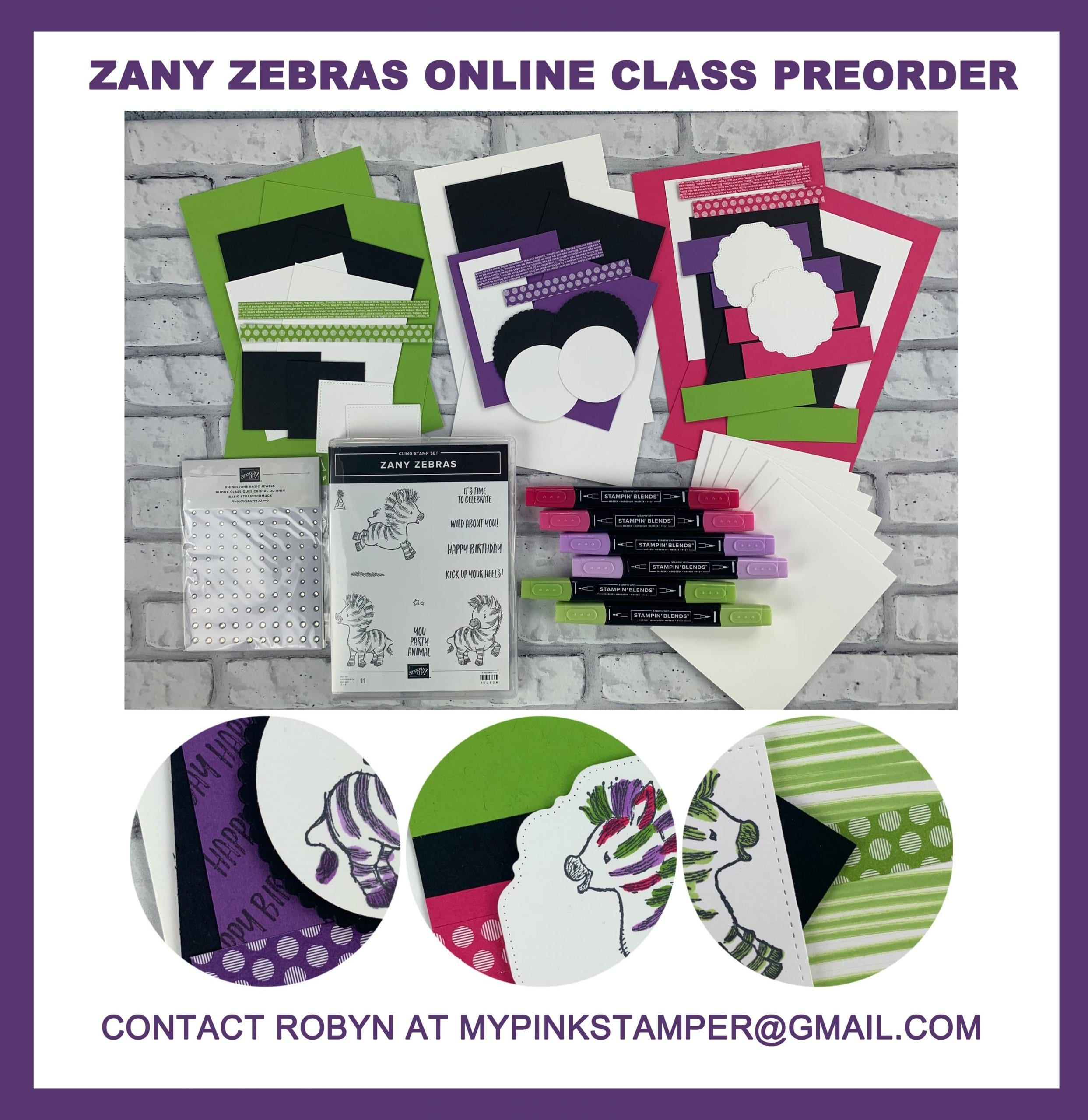 Zany Zebras Online Class Preorder Now Posted!!!