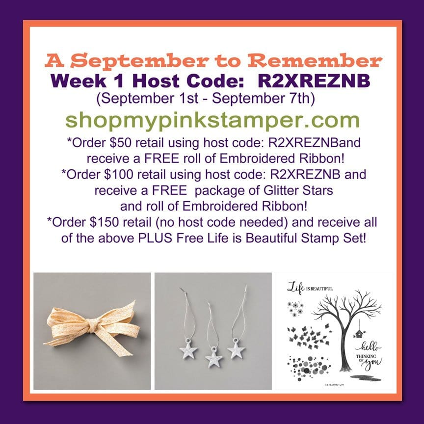 A September to Remember Promotion PLUS Stampin' Cut & Emboss Machine & MORE!!