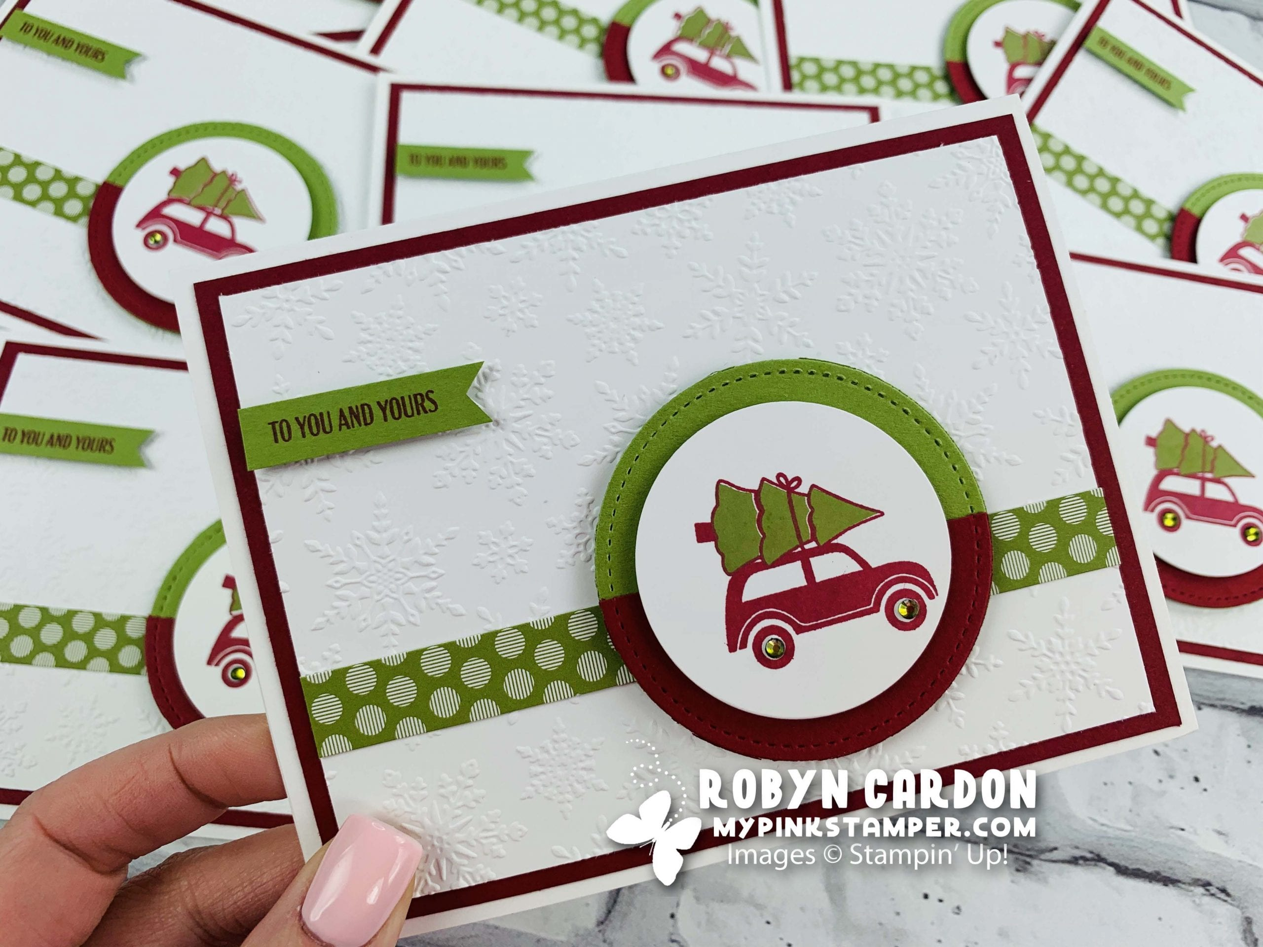 {VIDEO}Stampin' Up! Festive Post Christmas Card – Episode 789