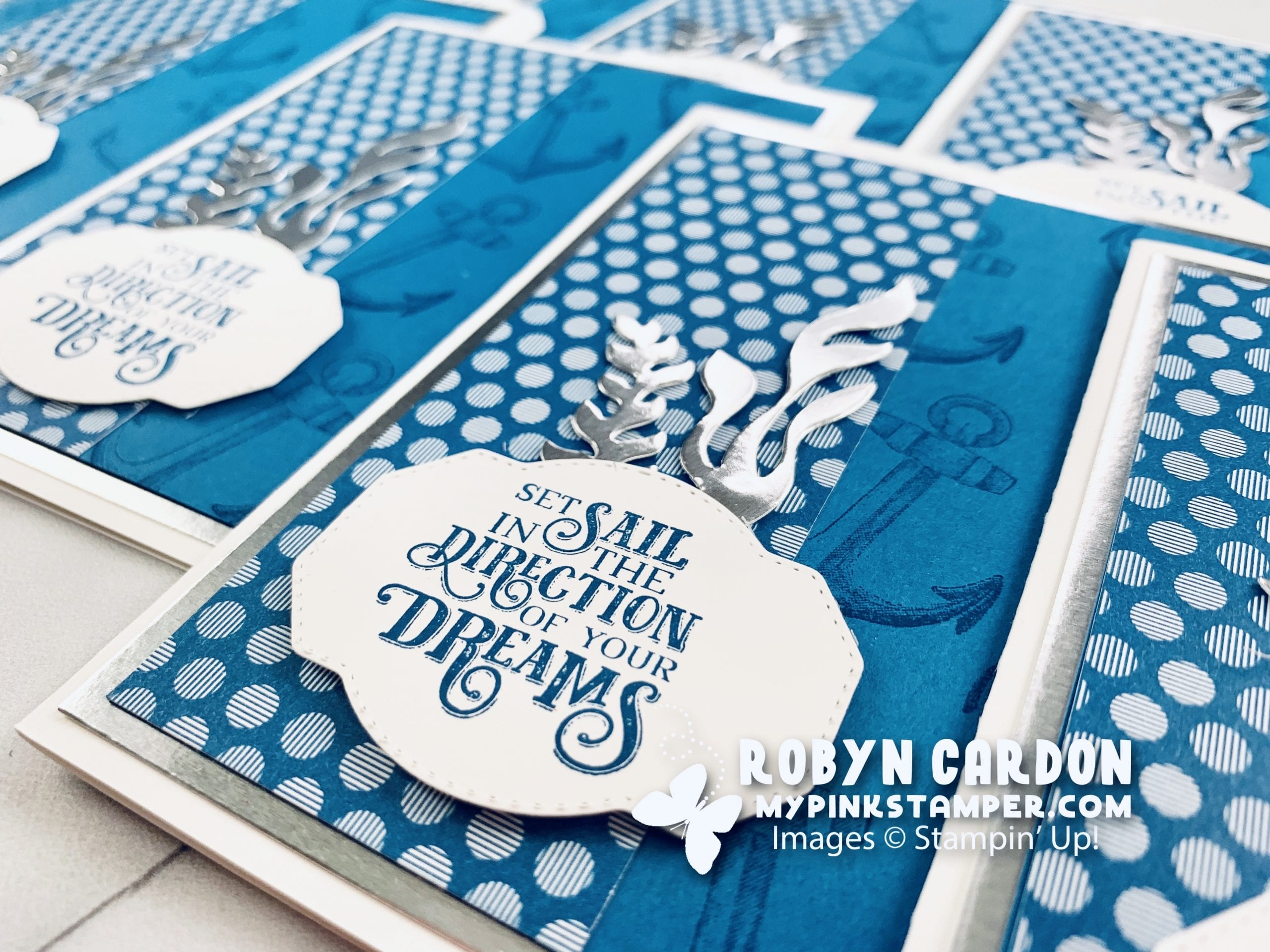 {VIDEO}Episode 790 Stampin' Up! Sailing Home Pacific Point Card Tutorial!