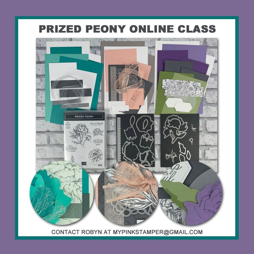 {NEW}Stampin' Up! Prized Peony Online Class Preorder Now Open!