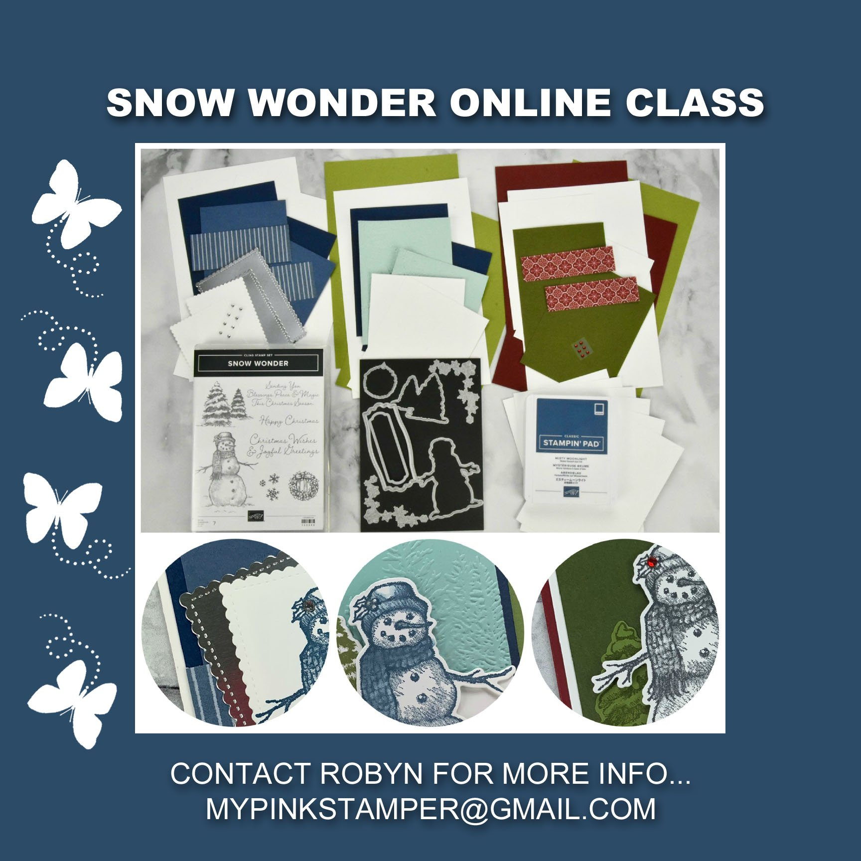 {NEW}Stampin' Up! Snow Wonder Online Class Preorder Now Open!