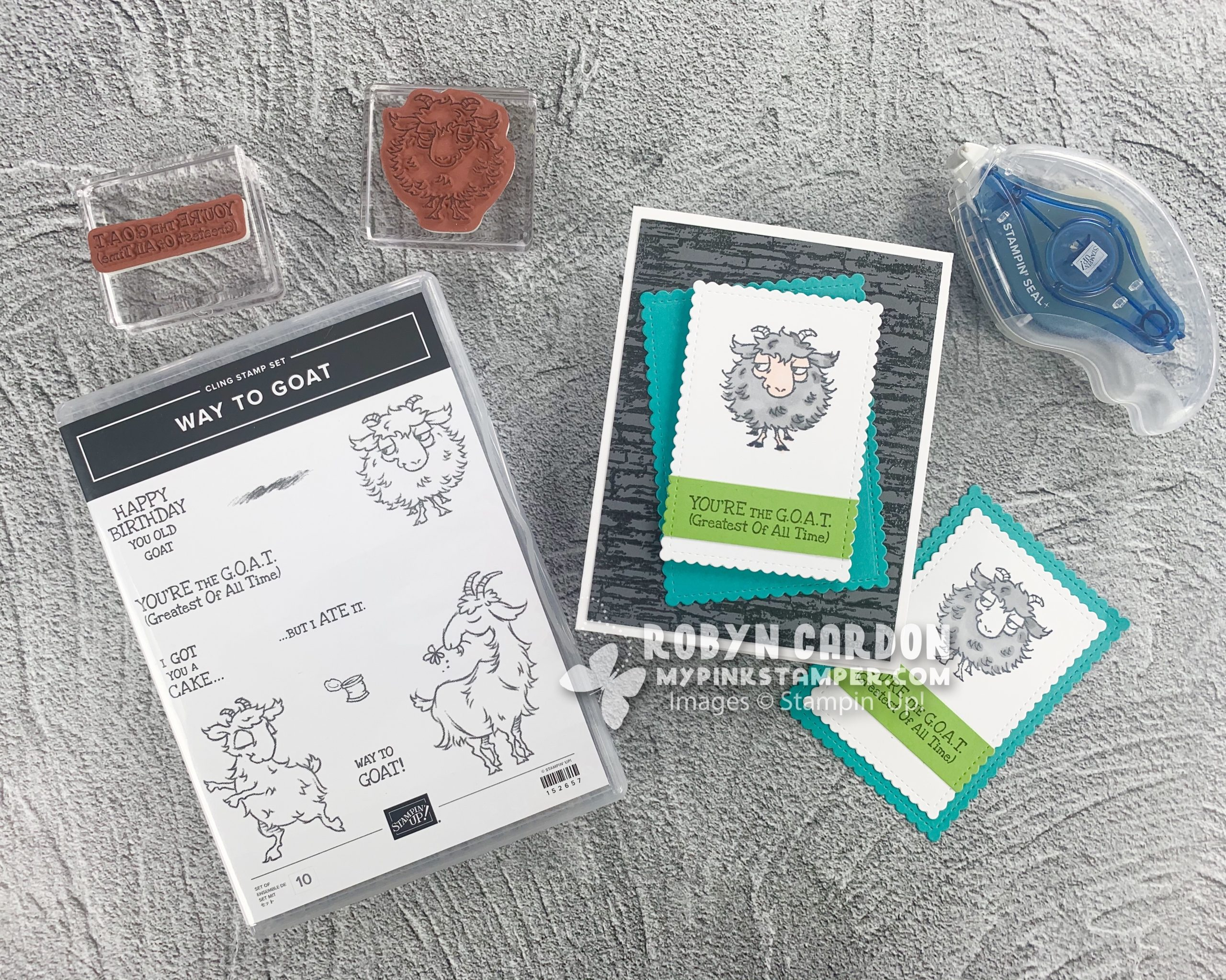 Product Spotlight – Stampin' Up! Way to Goat Stamp Set & a Handmade Christmas Bag!