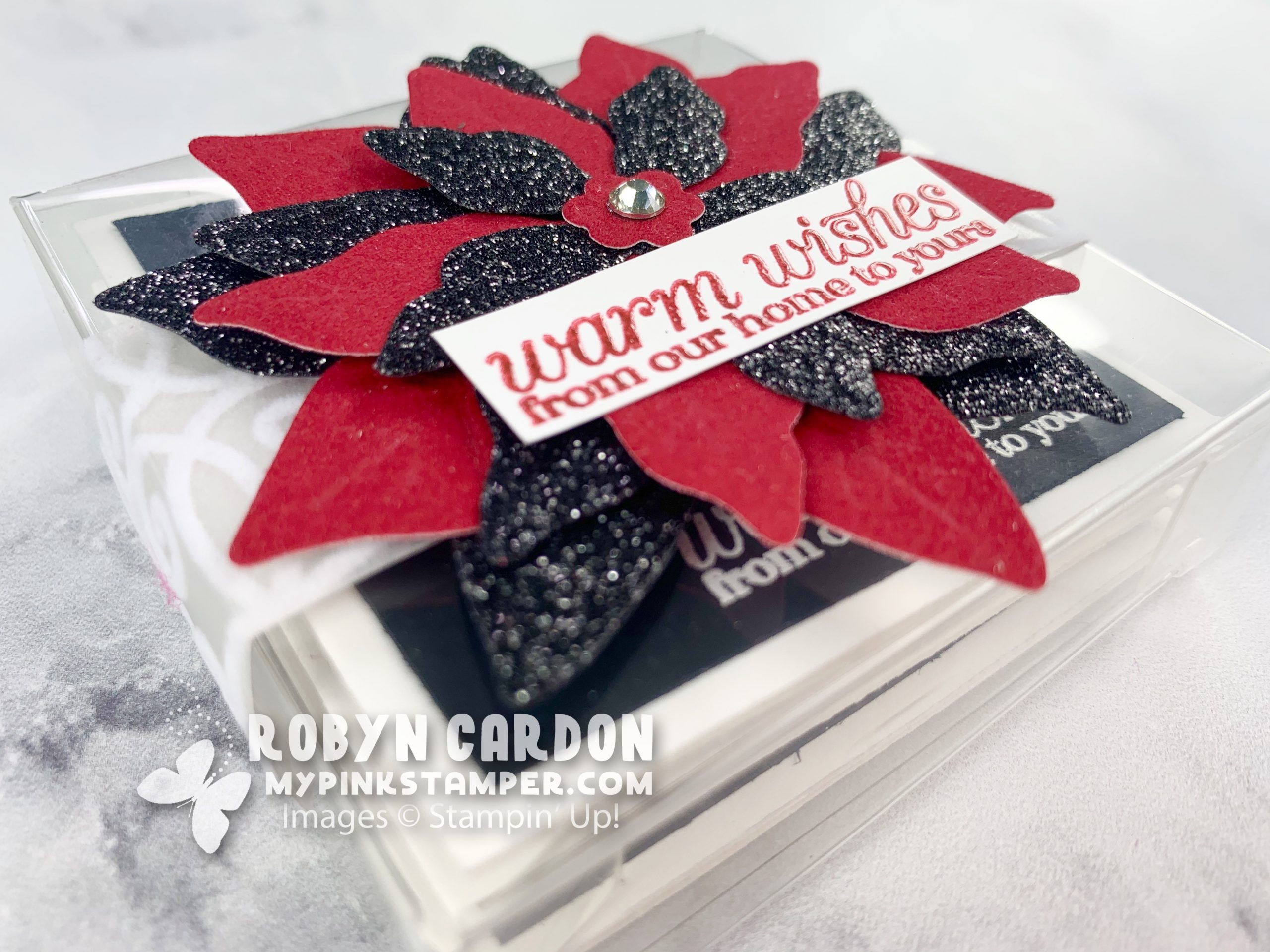 {VIDEO}Episode 801 – Stampin' Up! Poinsettia Petals Belly Band Mini Card Box