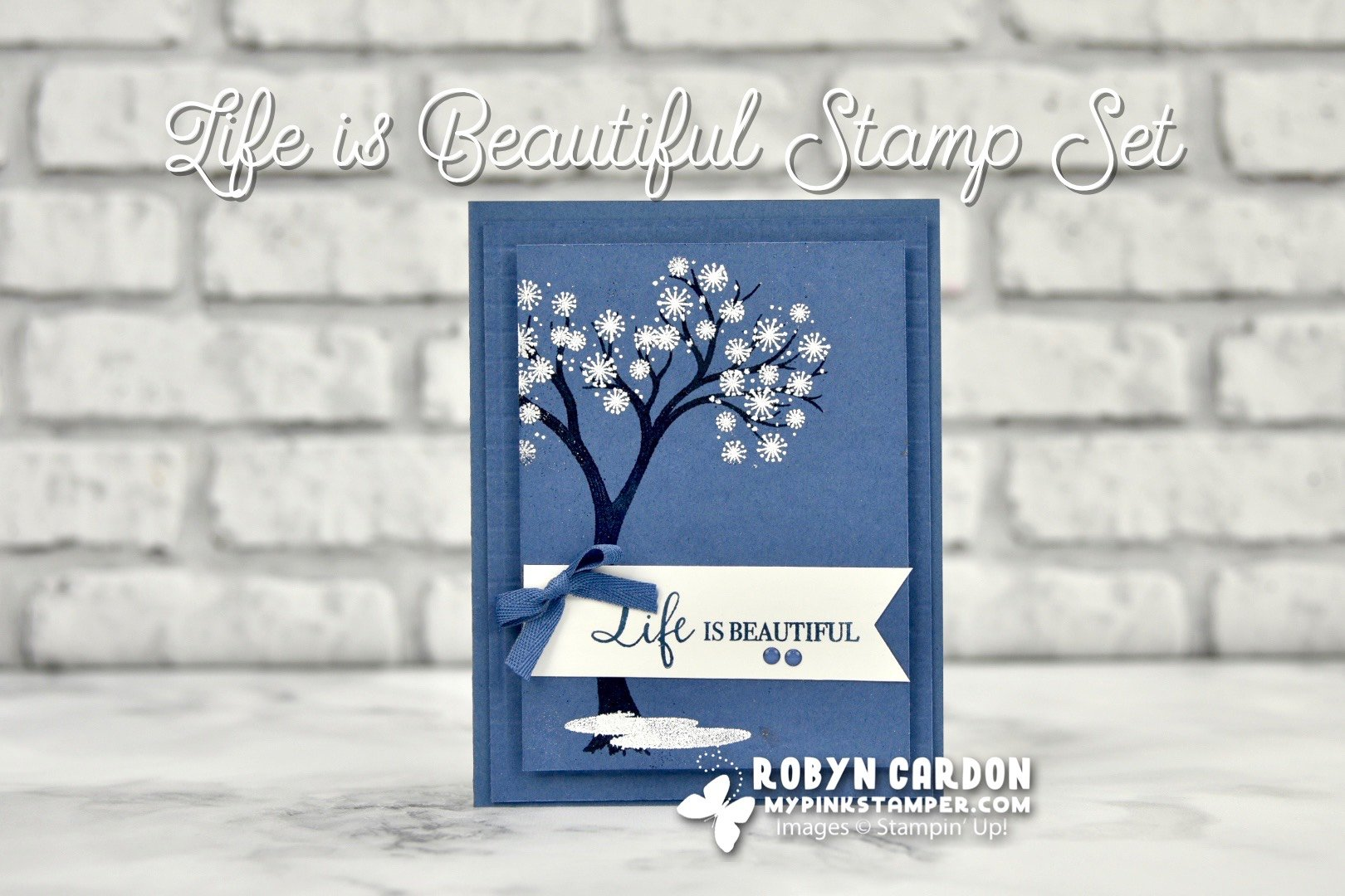 {VIDEO}Episode 802 – Stampin' Up! Life is Beautiful w/ Two Cards!
