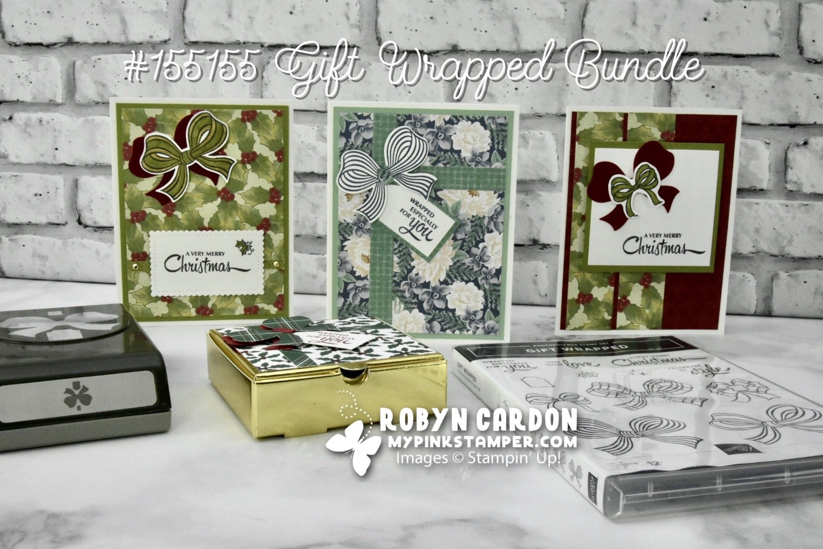 Product Spotlight – Stampin' Up! Gift Wrapped Stamp Set & Gift Bow Builder Punch