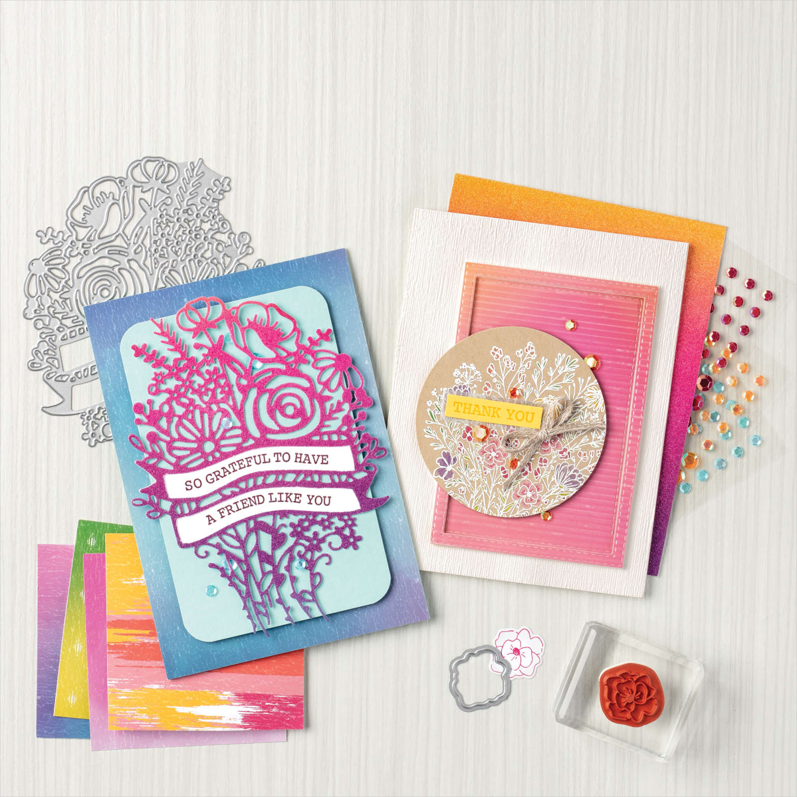 My Pink Candy Giveaway – Stampin' Up! Hand-Drawn Blooms Stamp Set & Winner