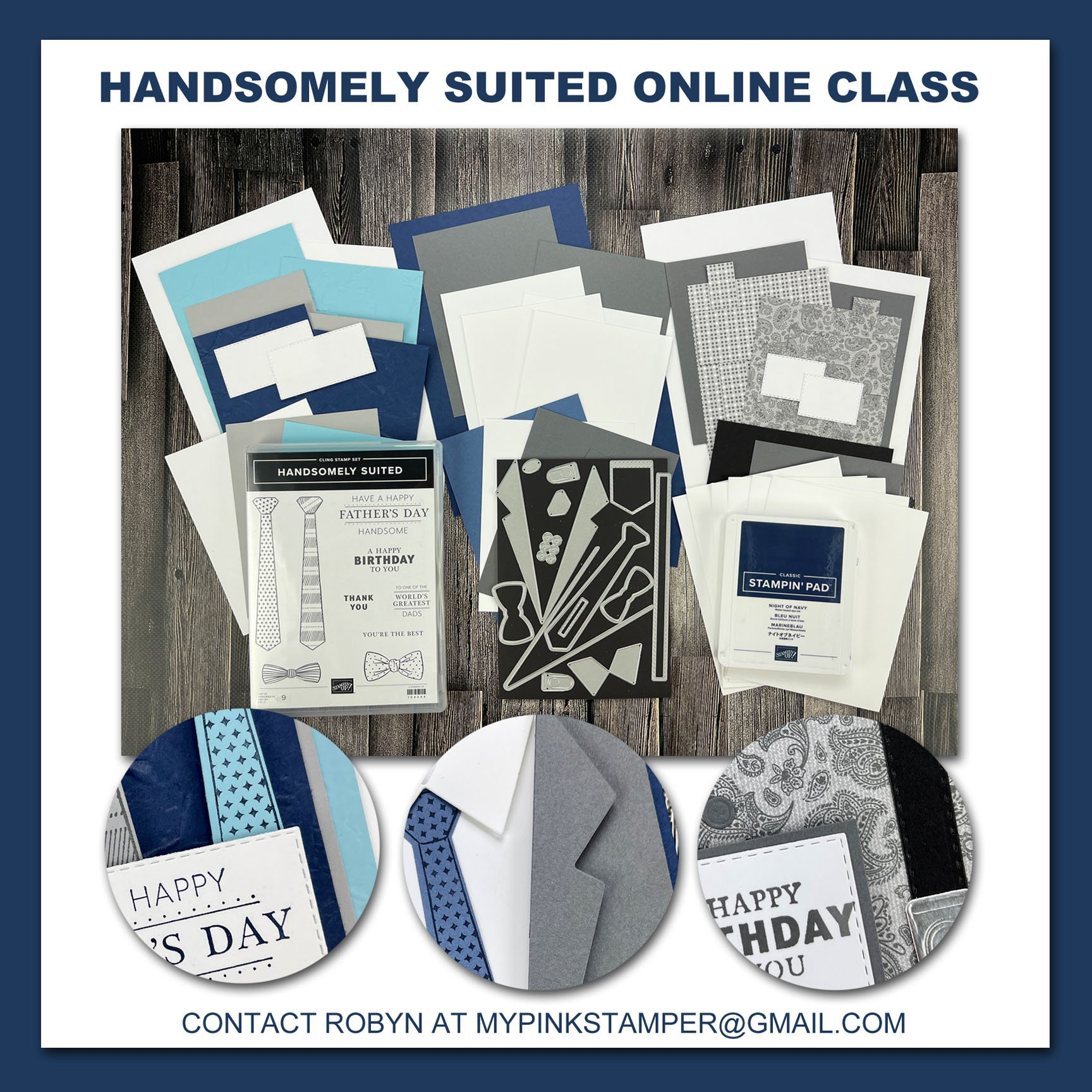 {NEW CLASS}Stampin' Up! Handsomely Suited Online Class Preorder Now Open!